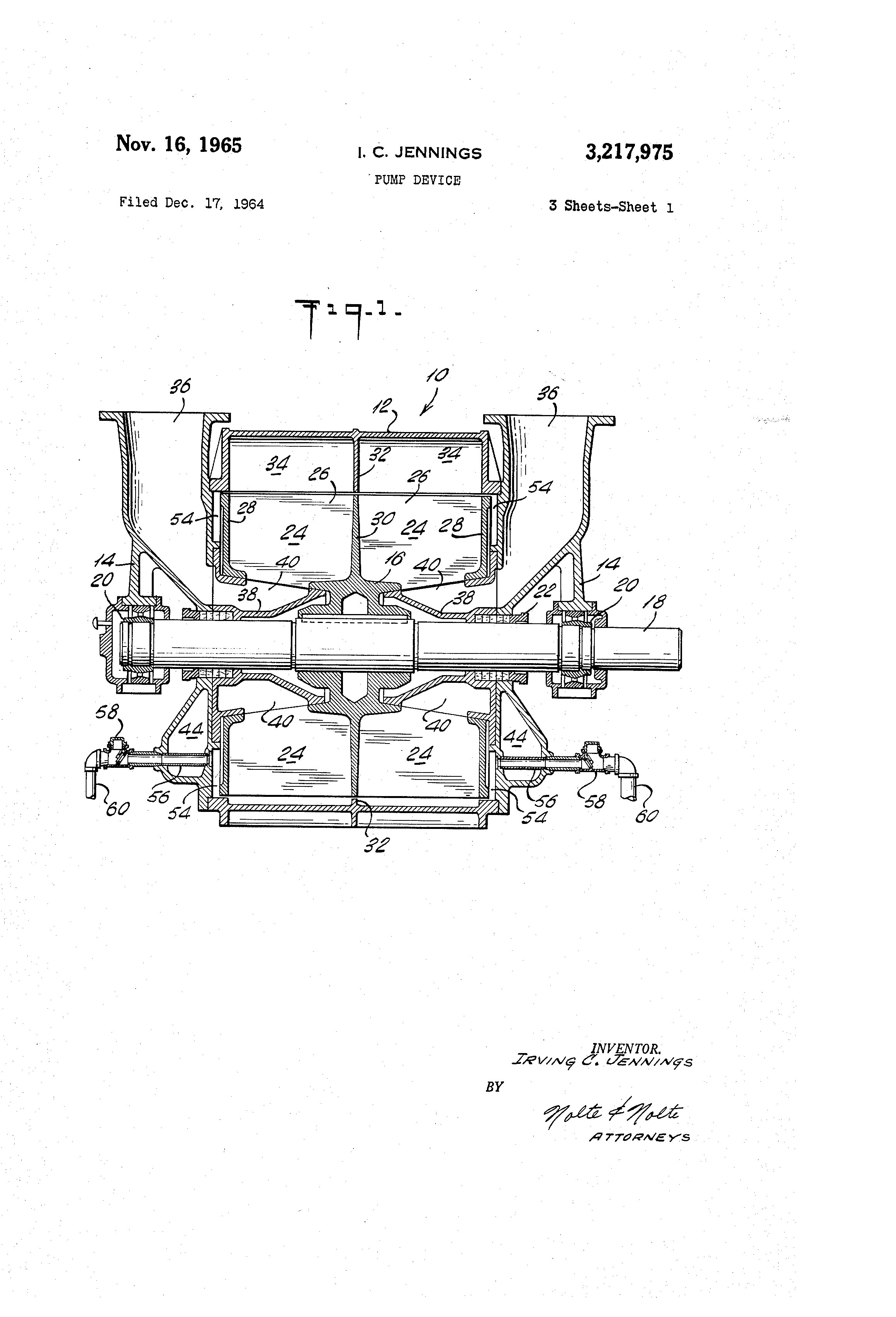 Patent Us3217975 Pump Device Google Patents On To Enlarge The Diagram Operating Principle Of Liquid Ring Pumps Drawing
