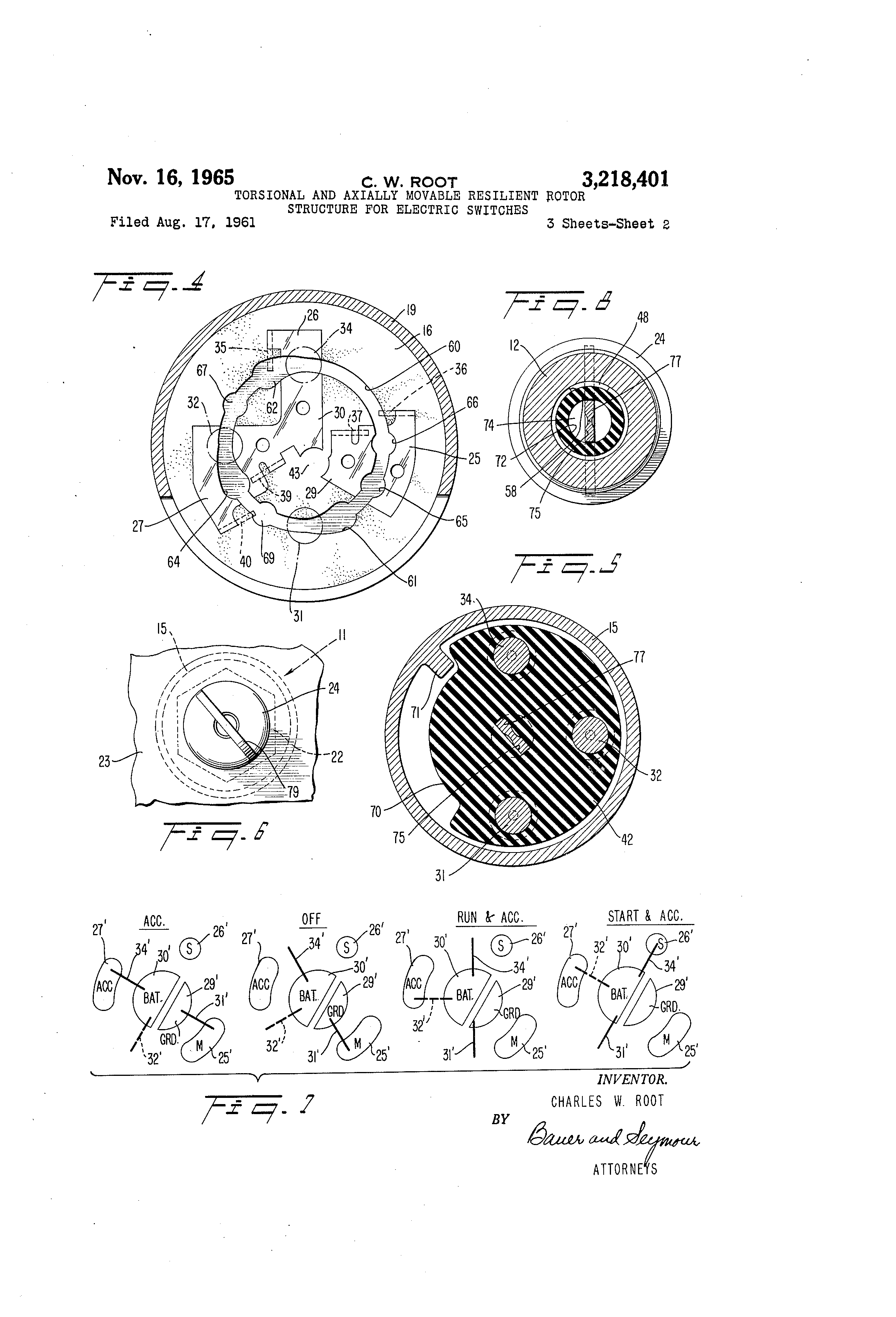 patent us torsional and axially movable resilient rotor patent drawing
