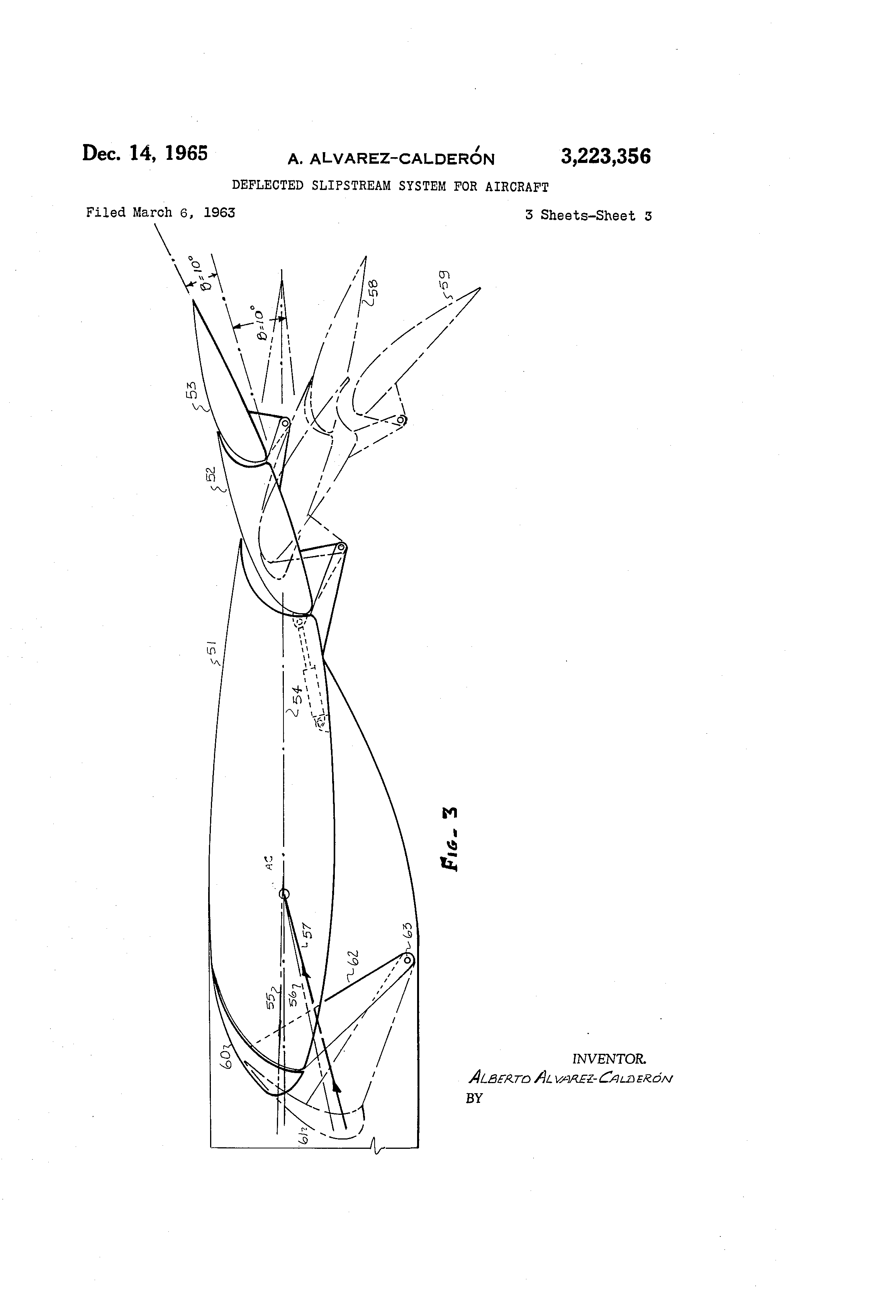Patent US3223356 - Deflected slipstream system for aircraft - Google