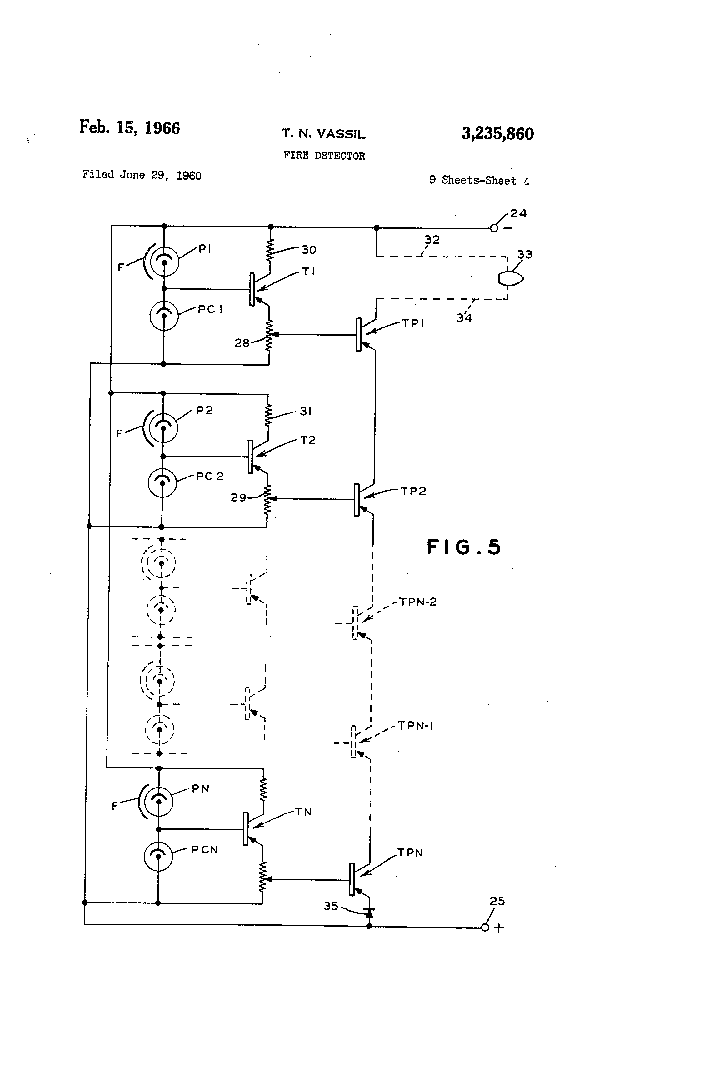 US3235860 3 patent us3235860 fire detector google patents fenwal heat detector wiring diagram at edmiracle.co