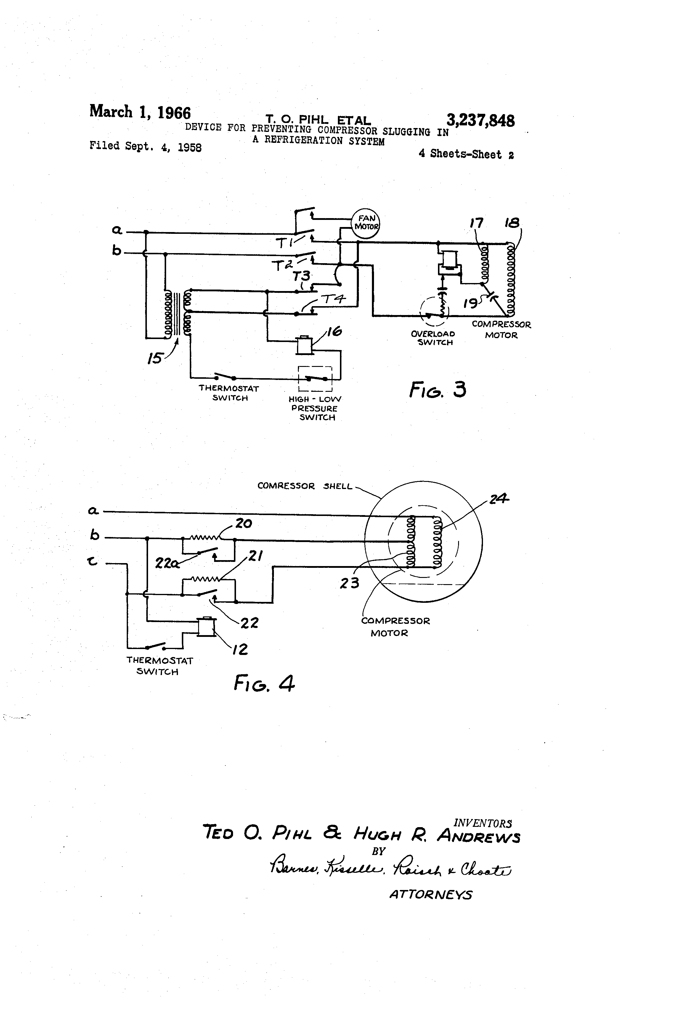 patent us3237848 device for preventing compressor slugging in a patent drawing