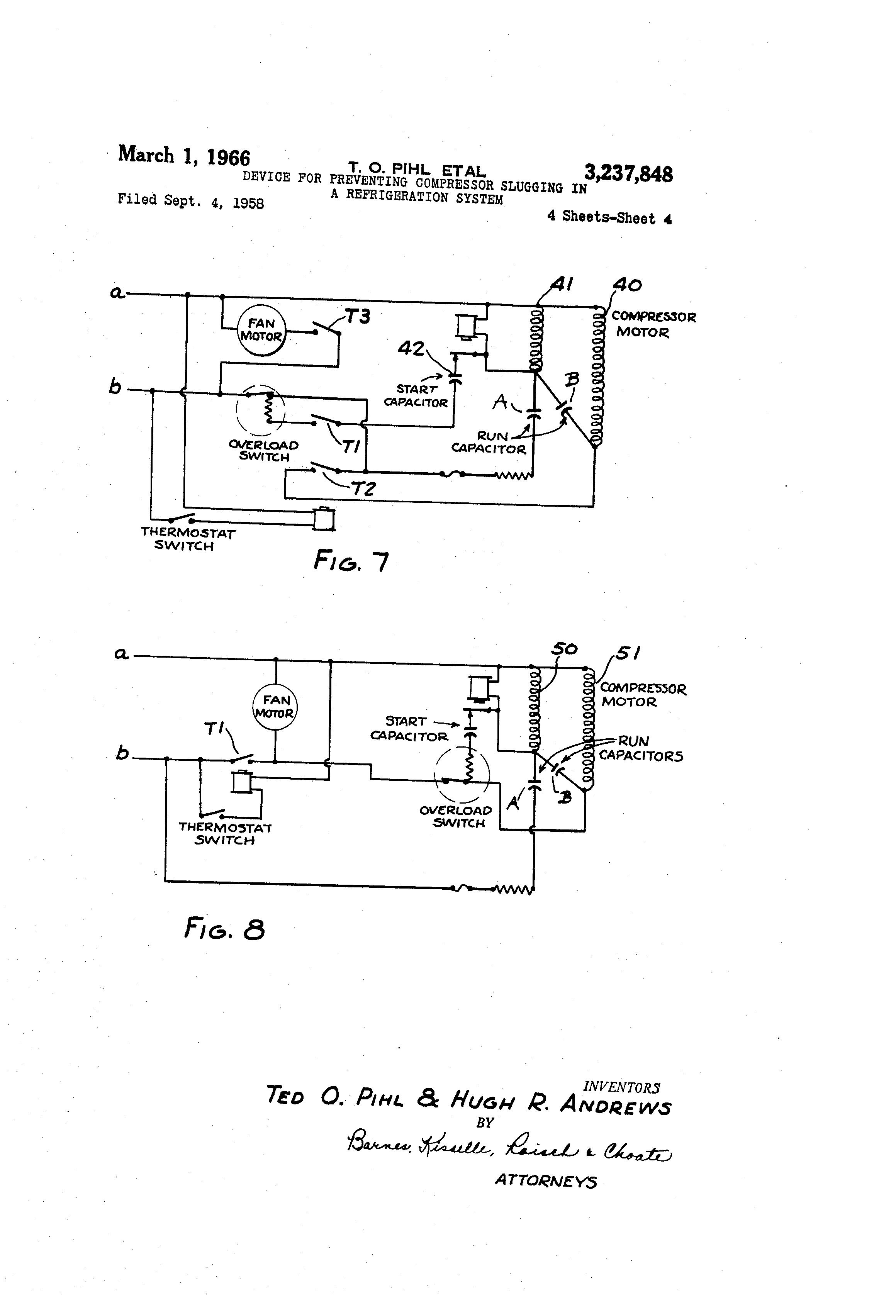 Patent US3237848 - Device for preventing compressor slugging in a ...