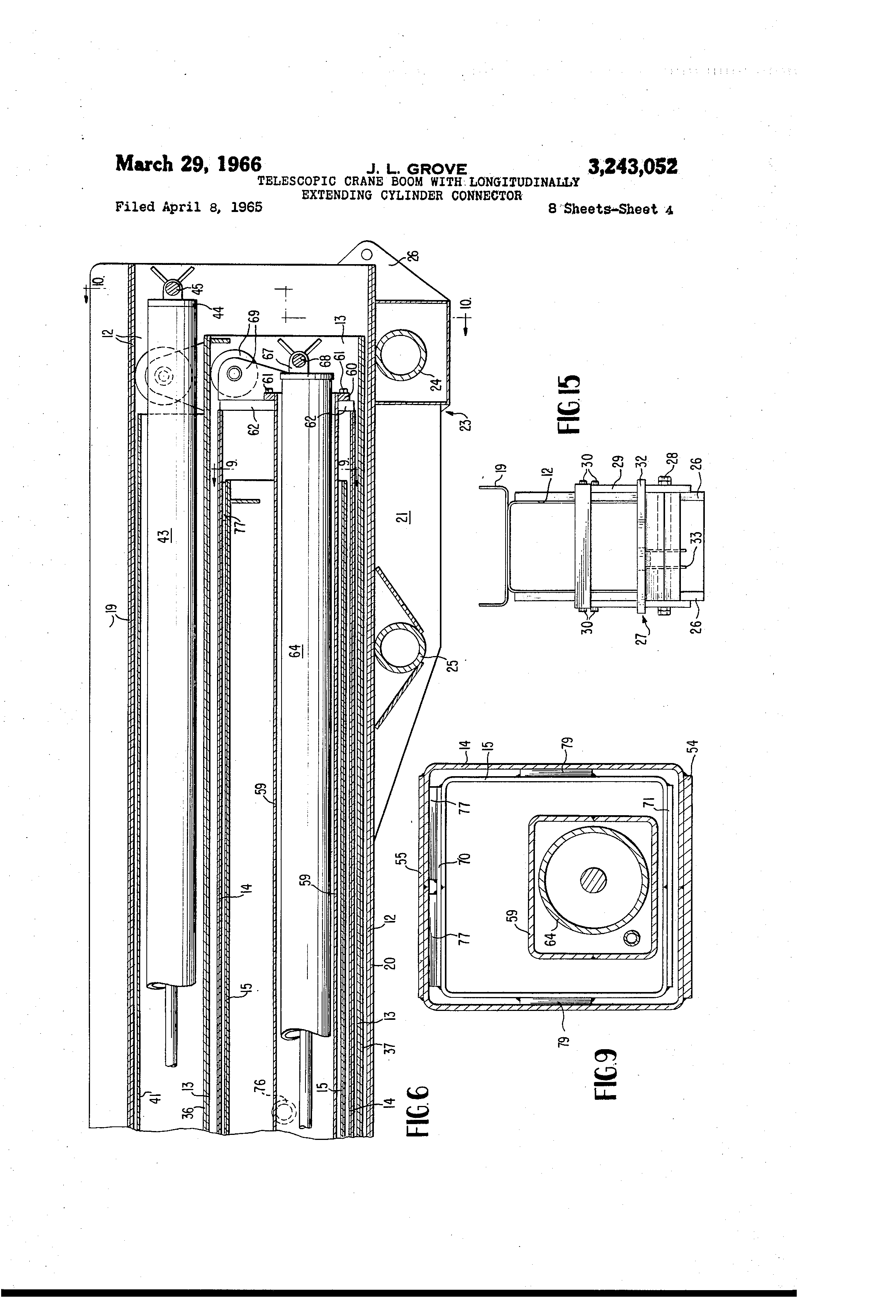patent us3243052 telescopic crane boom longitudinally patent drawing