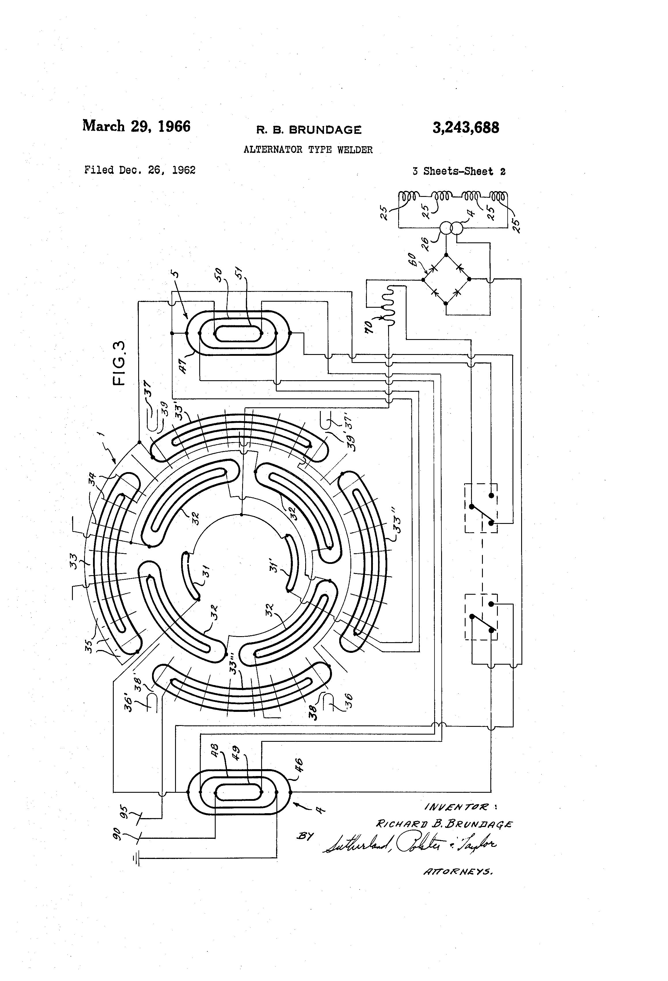 patent us3243688 alternator type welder patents Ready Welder II patent drawing