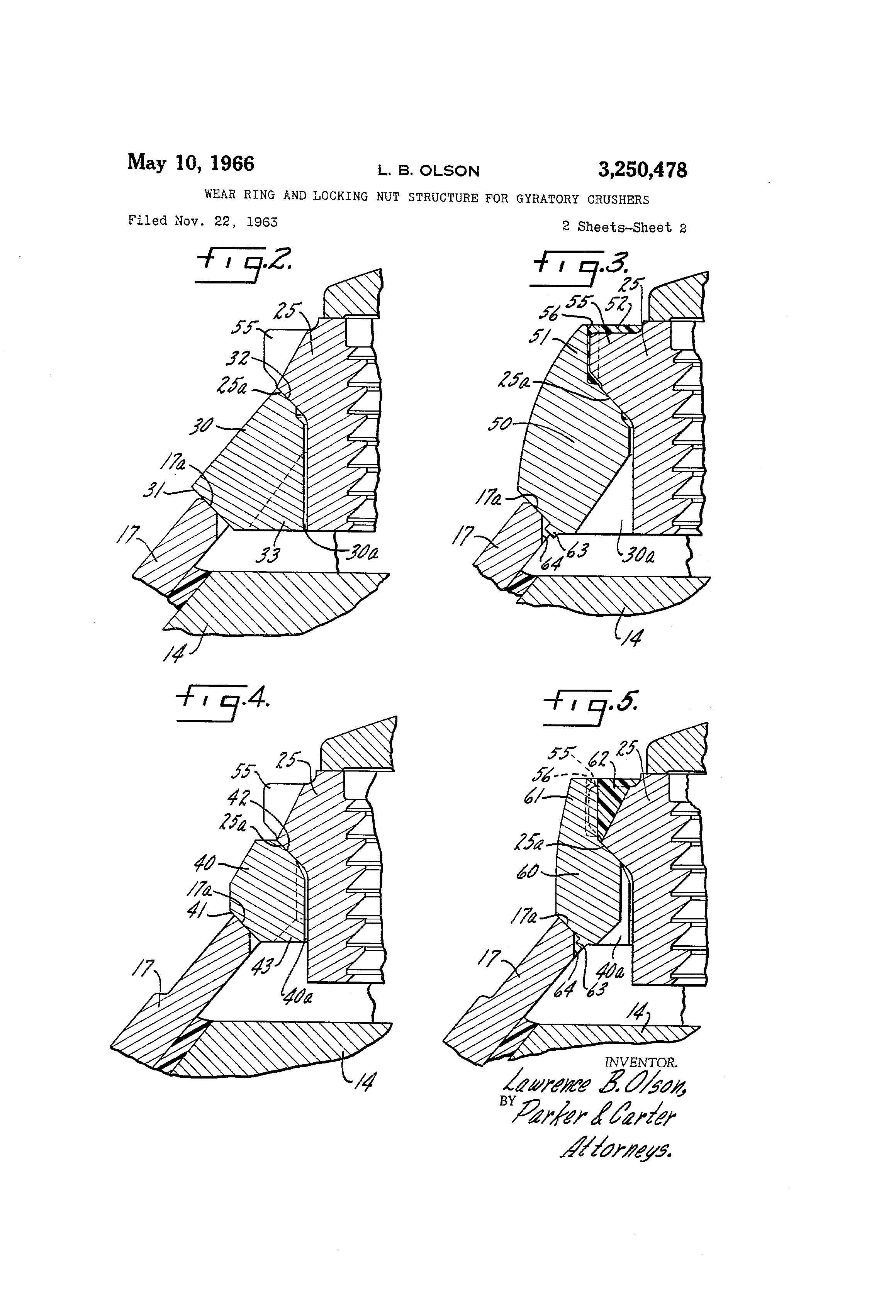 Patent us3250478 wear ring and locking nut structure for patent drawing buycottarizona Choice Image
