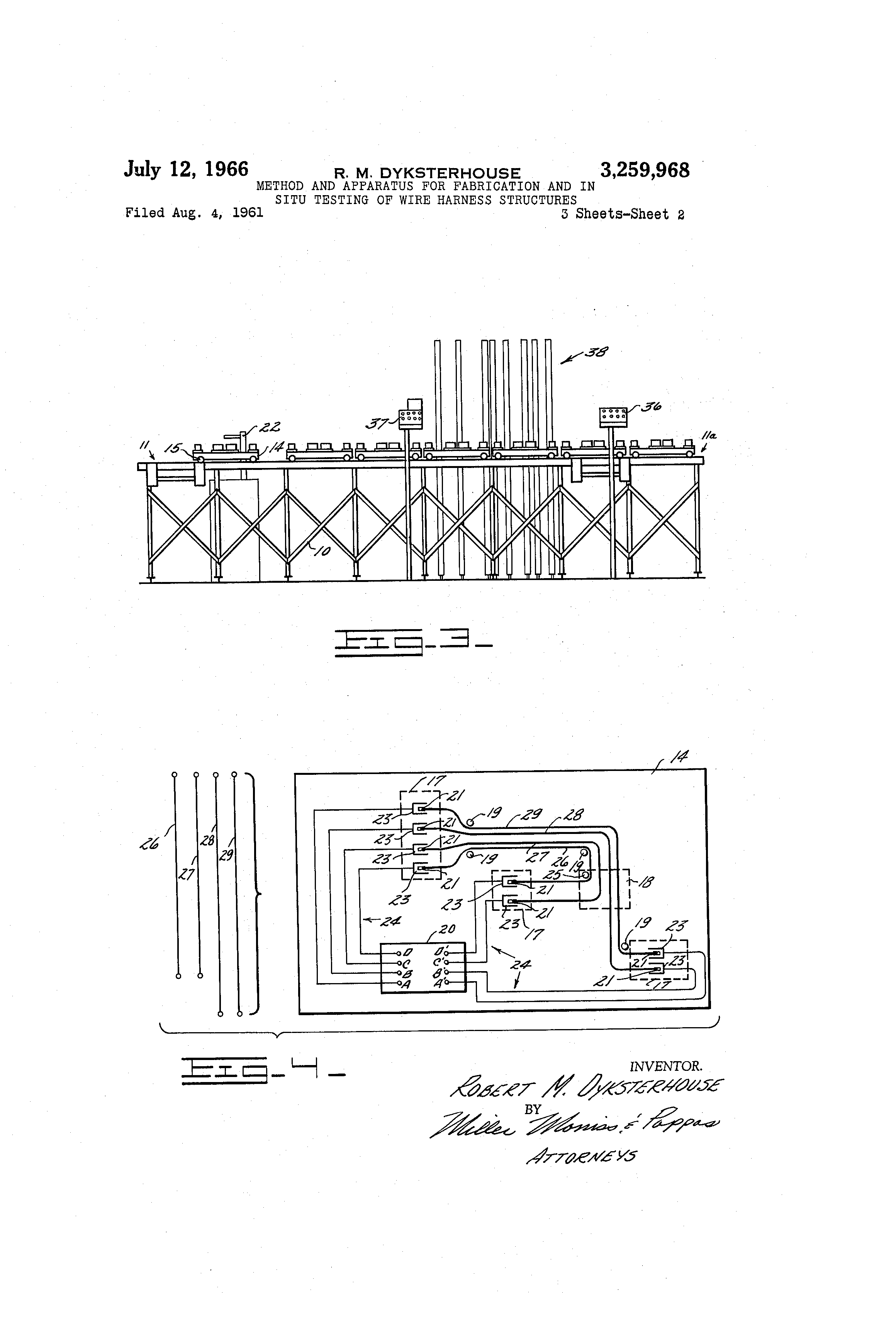 US3259968 1 patent us3259968 method and apparatus for fabrication and in Wiring Harness Diagram at n-0.co