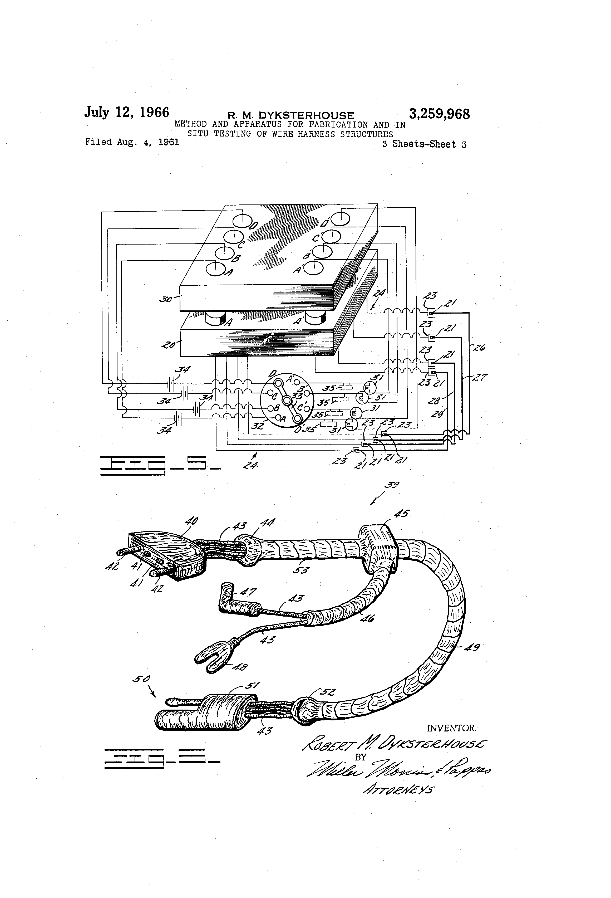 US3259968 2 patent us3259968 method and apparatus for fabrication and in Wiring Harness Diagram at bakdesigns.co