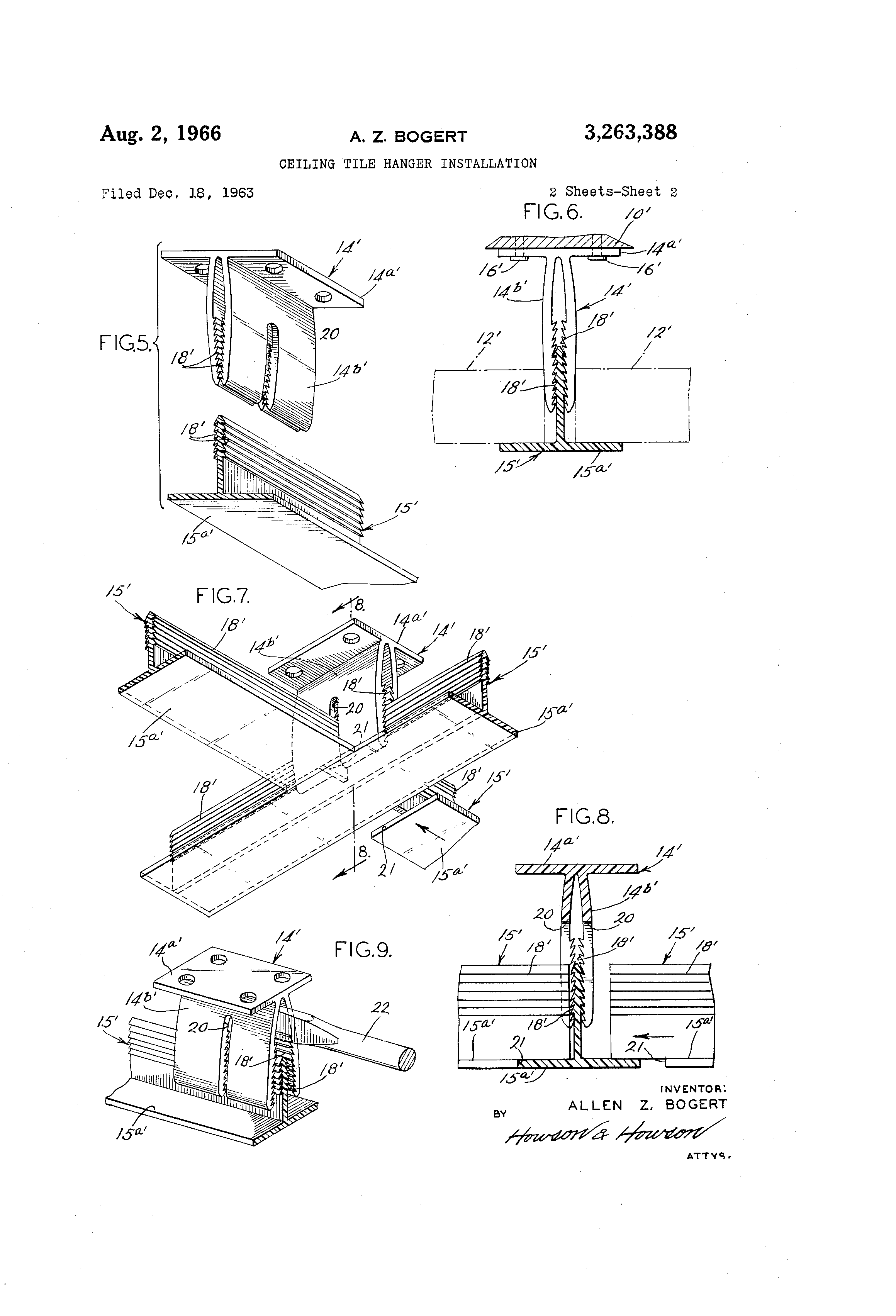 Patent us3263388 ceiling tile hanger installation google patents patent drawing doublecrazyfo Images