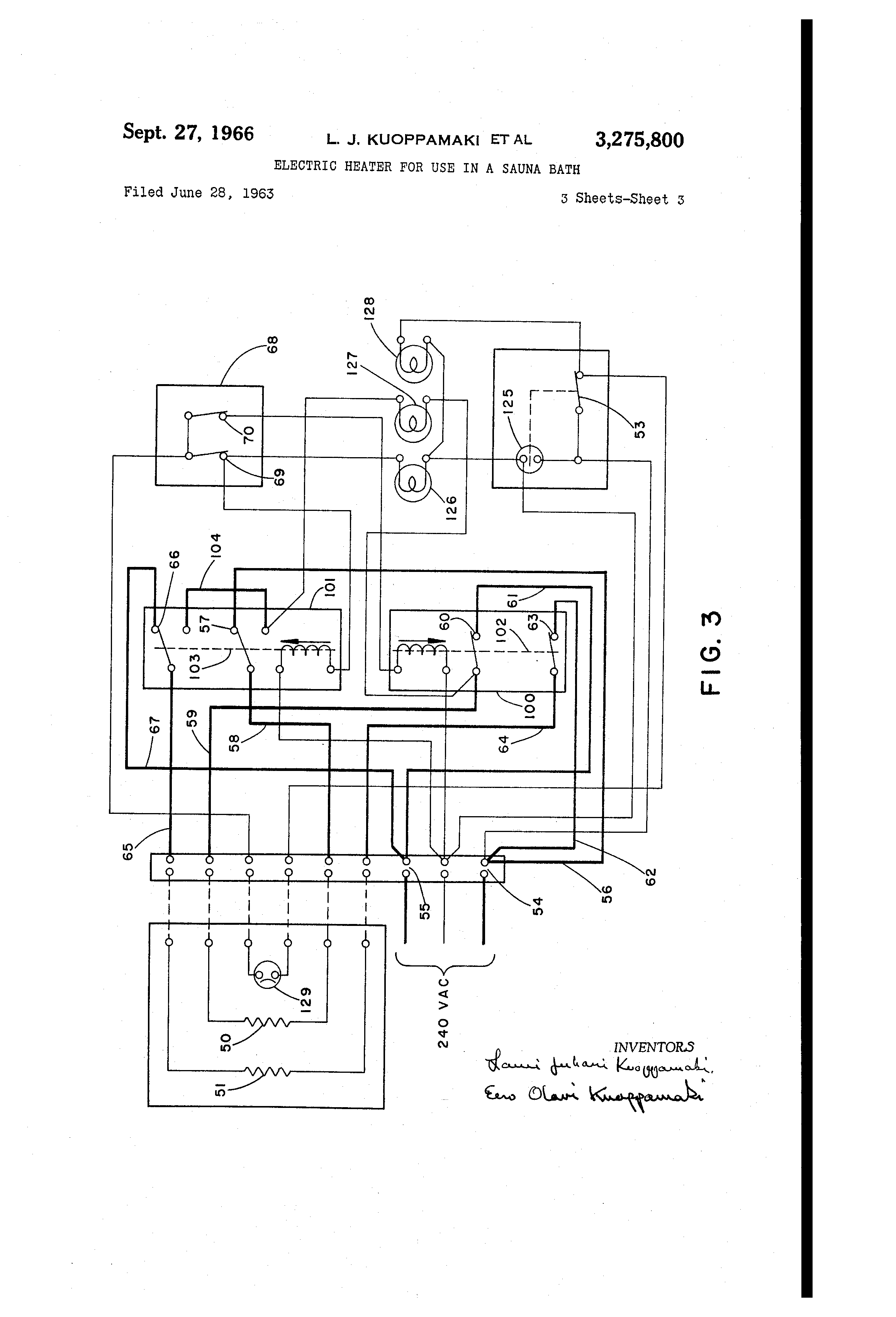 US3275800 2 patent us3275800 electric heater for use in a sauna bath sauna heater wiring diagram at panicattacktreatment.co
