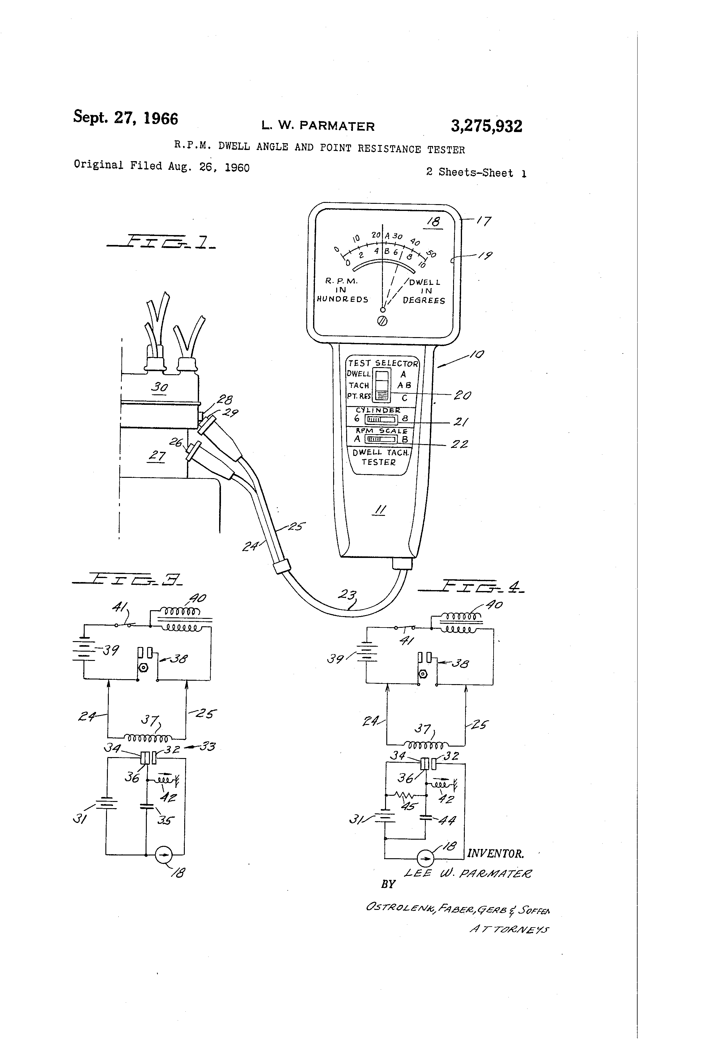 Dwell Meter Circuit Excellent Electrical Wiring Diagram House Measuringandtestcircuit Seekiccom Patent Us3275932 R P M Angle And Point Resistance Tester Rh Google Gg