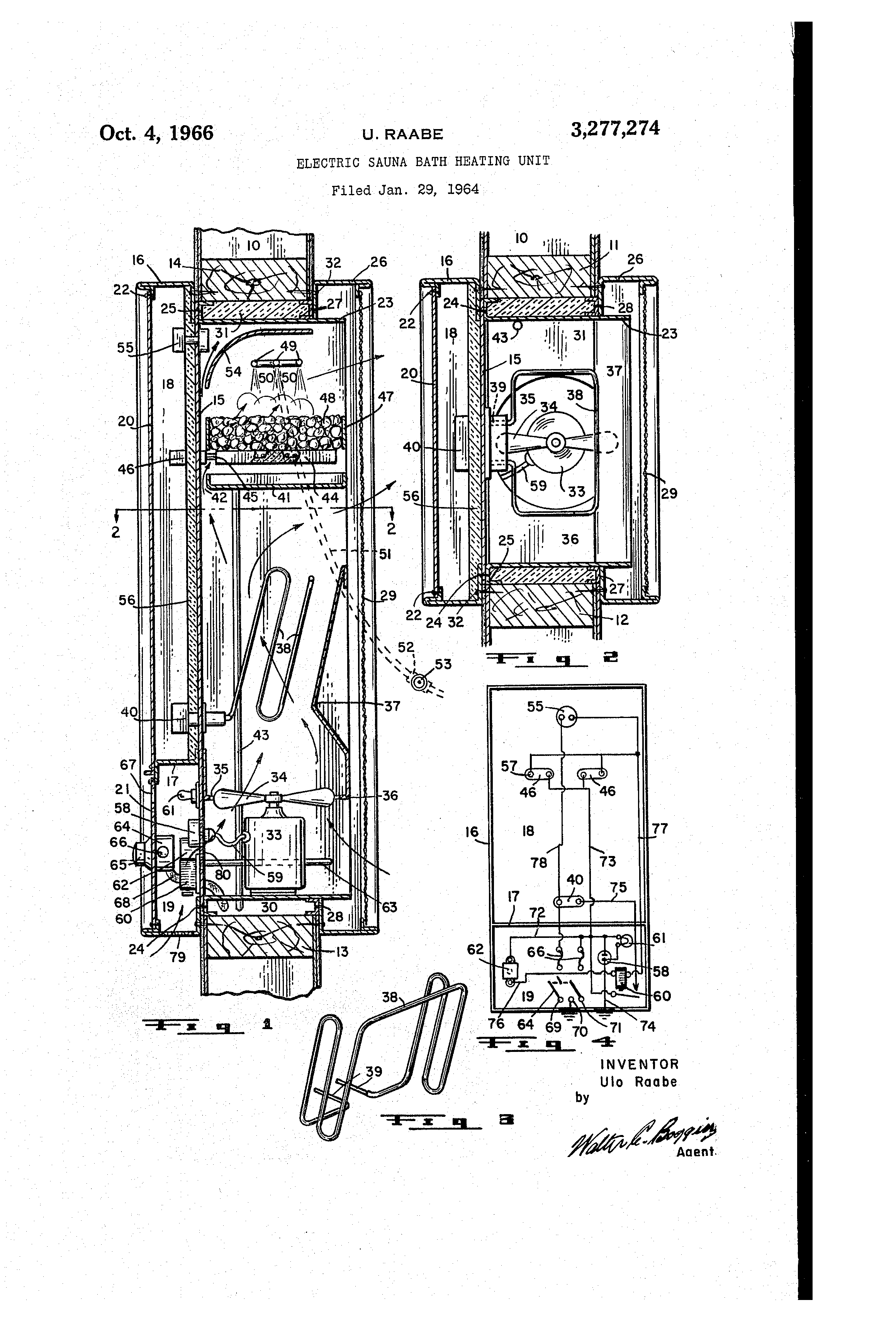 Brevet Us3277274 Electric Sauna Bath Heating Unit Google Brevets Wiring Diagram Patent Drawing