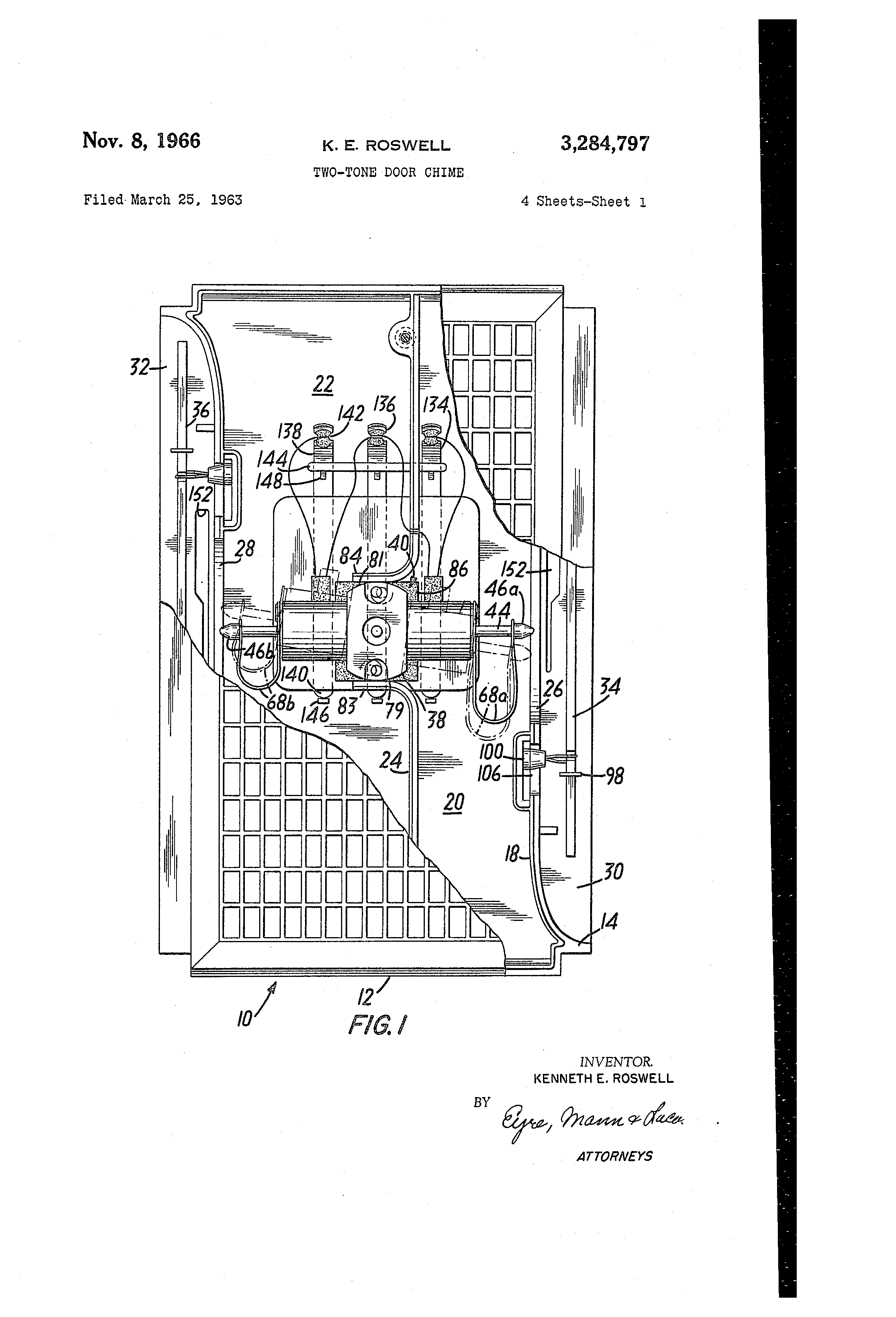 US3284797 0 patent us3284797 two tone door chime google patents  at n-0.co