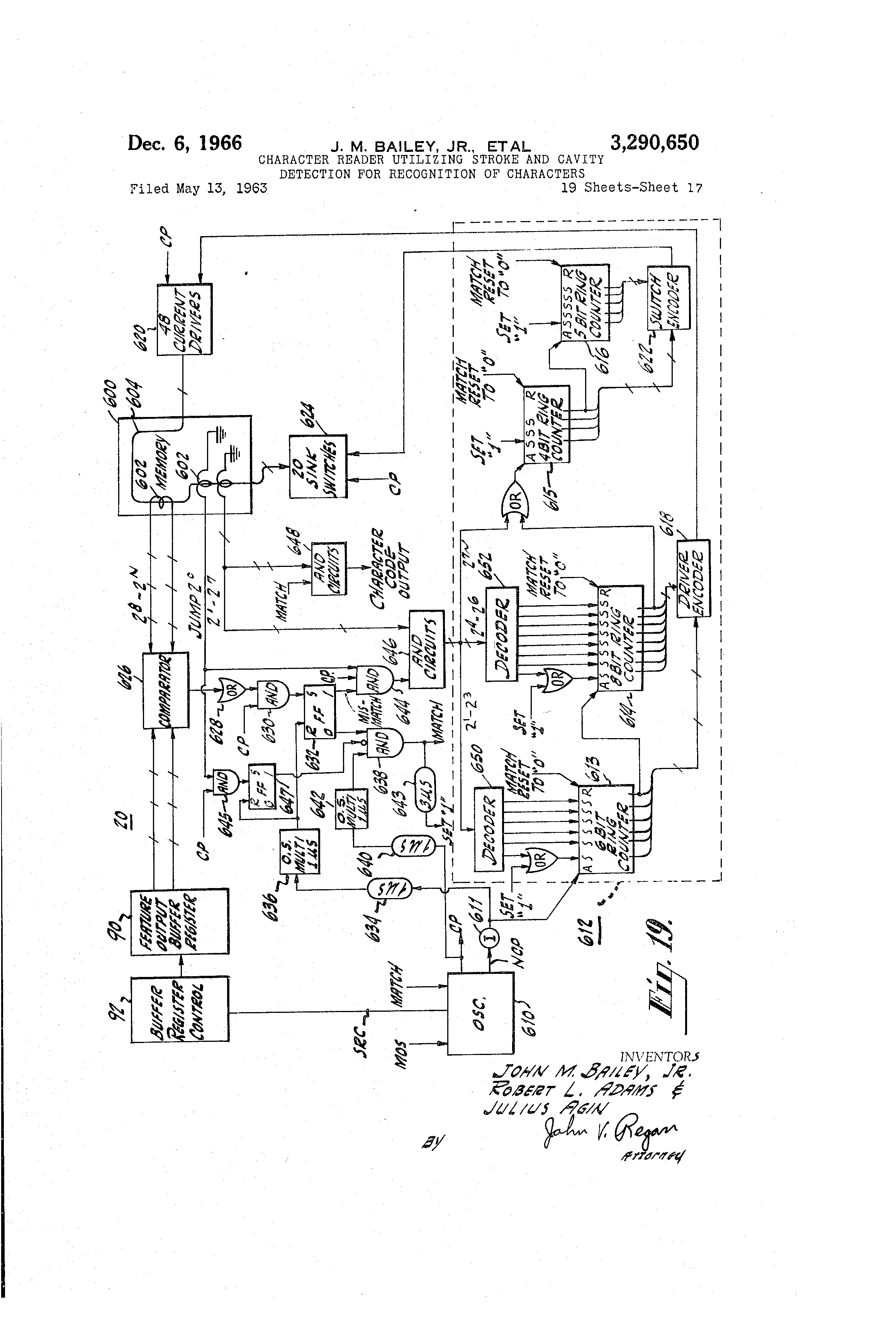 US3290650 16 patent us3290650 character reader utilizing stroke and cavity Basic Electrical Wiring Diagrams at gsmx.co