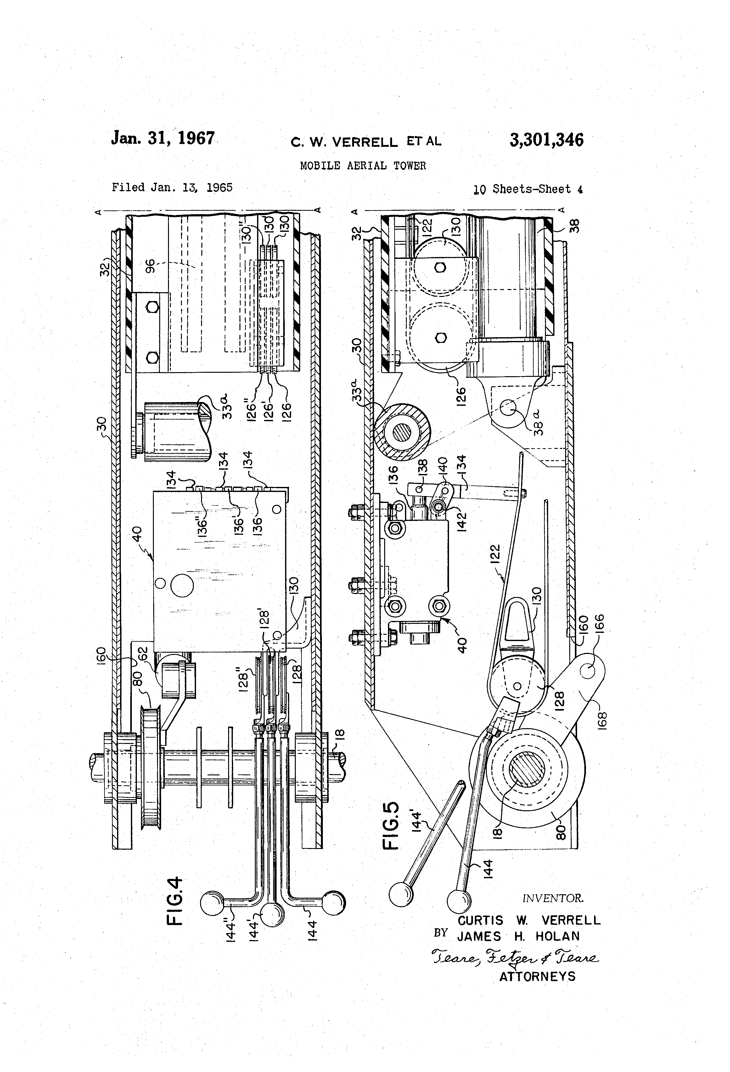 US3301346 3 patent us3301346 mobile aerial tower google patents telsta bucket truck wiring diagram at suagrazia.org