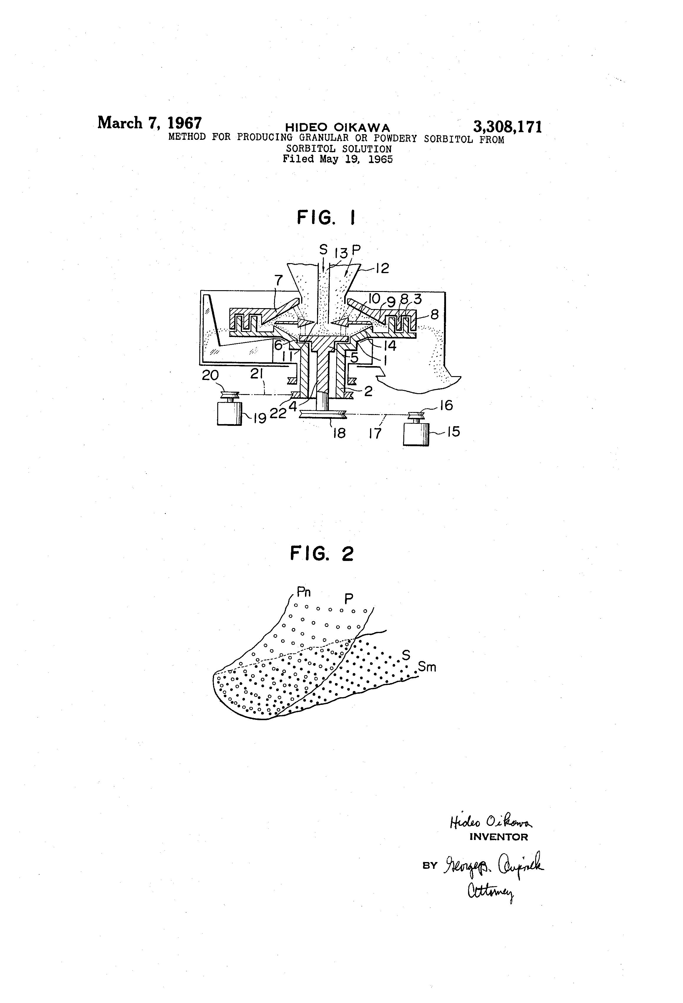patent us3308171 method for producing granular or powdery