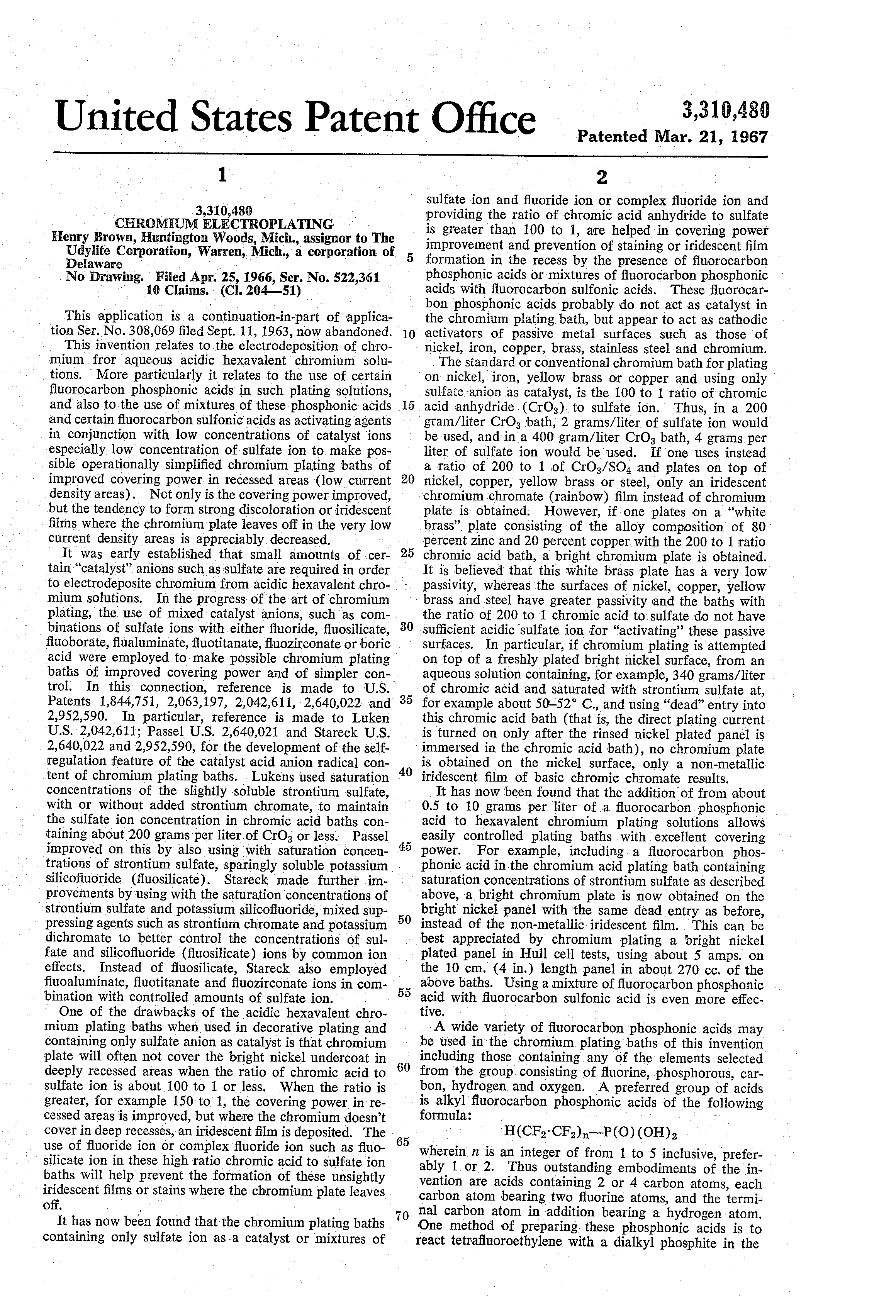 patent us chromium electroplating patents patent drawing