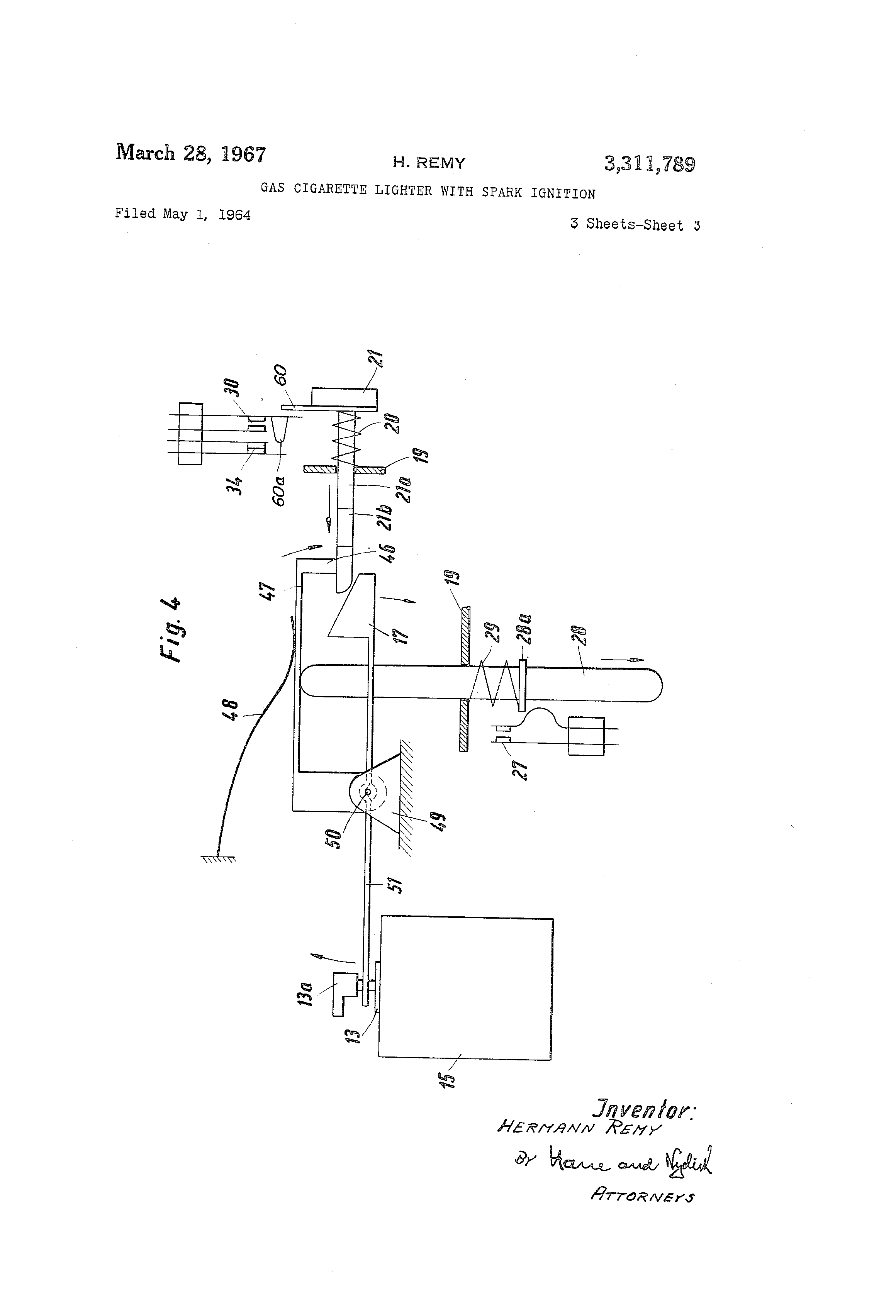 US3311789 2 patent us3311789 gas cigarette lighter with spark ignition  at couponss.co