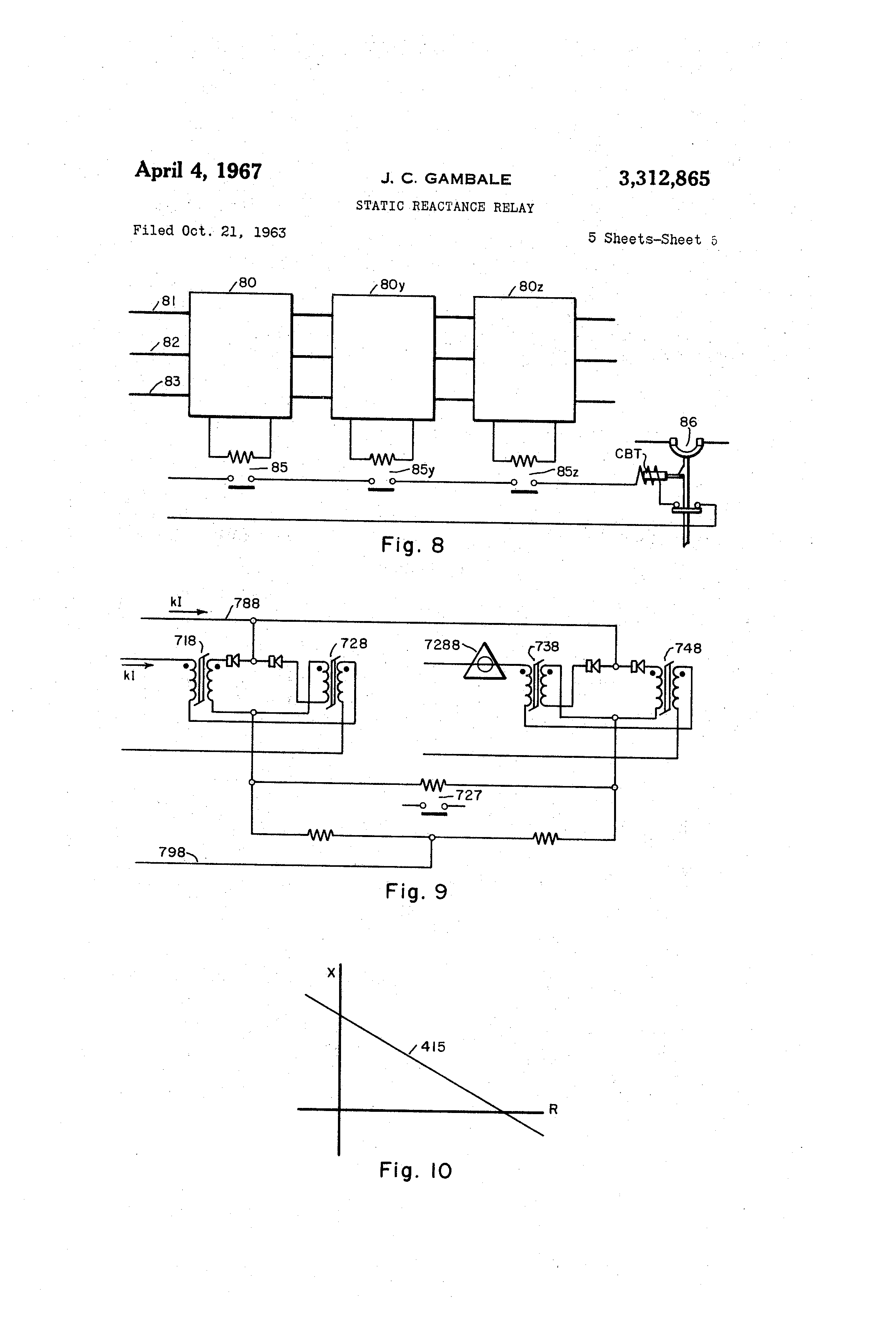 Patent US Static Reactance Relay Google Patents - Static relay working principle