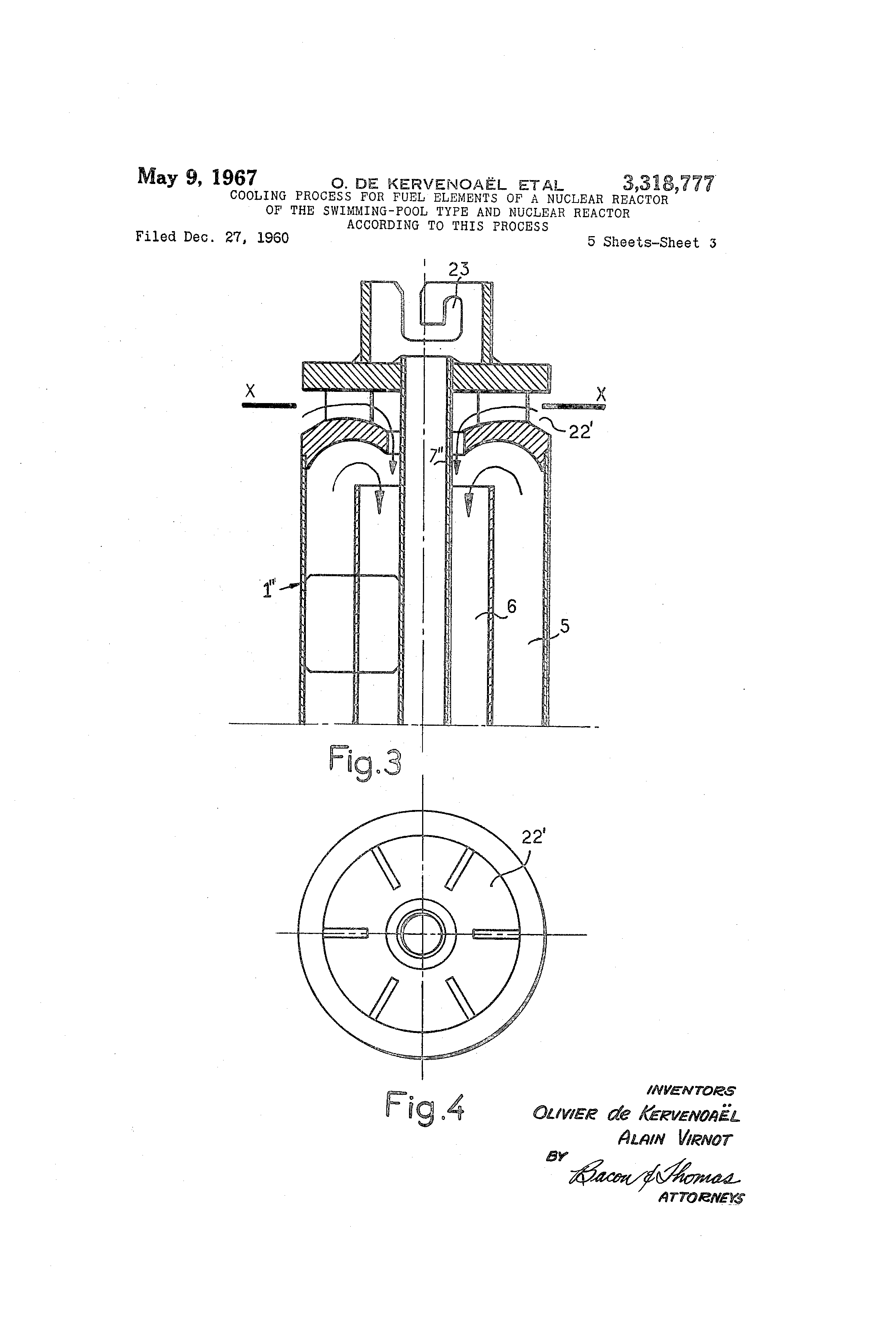 Patent Us3318777 Cooling Process For Fuel Elements Of A Nuclear Power Plant Flow Diagram Drawing