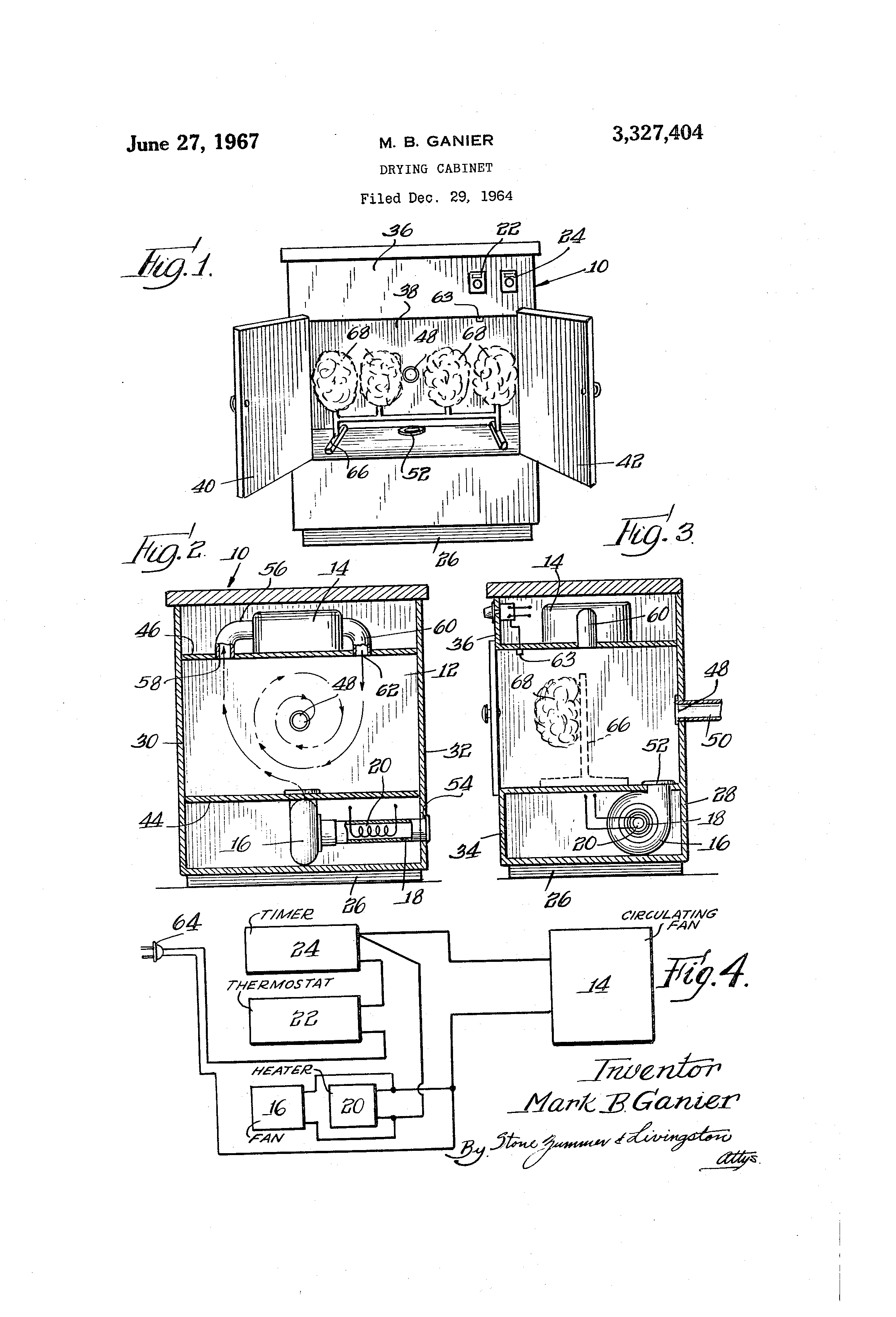Patent US3327404 - Drying cabinet - Google Patents