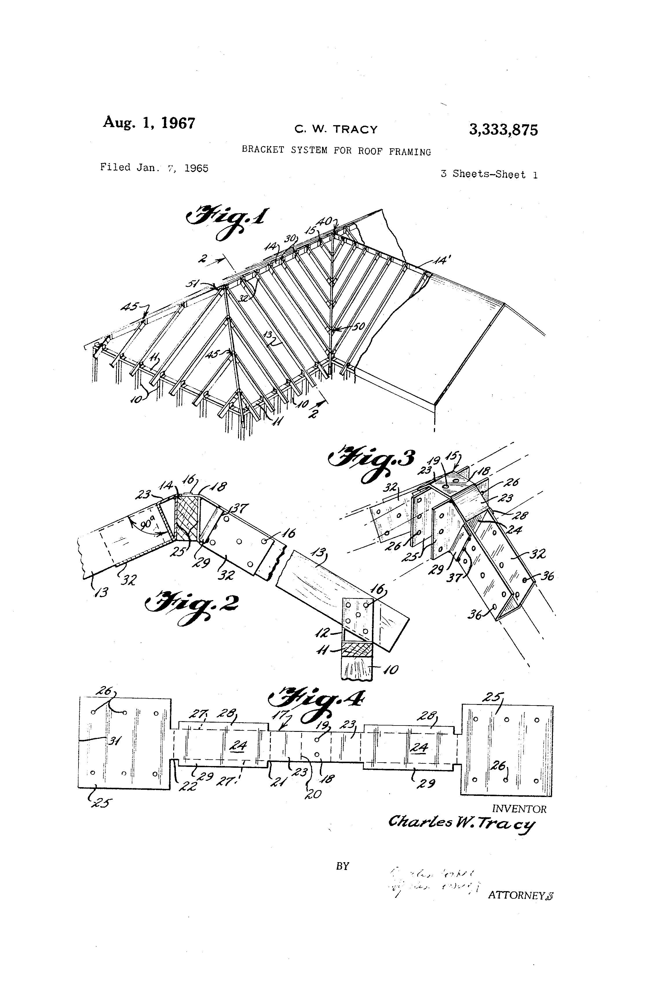 patent us bracket system for roof framing google patents