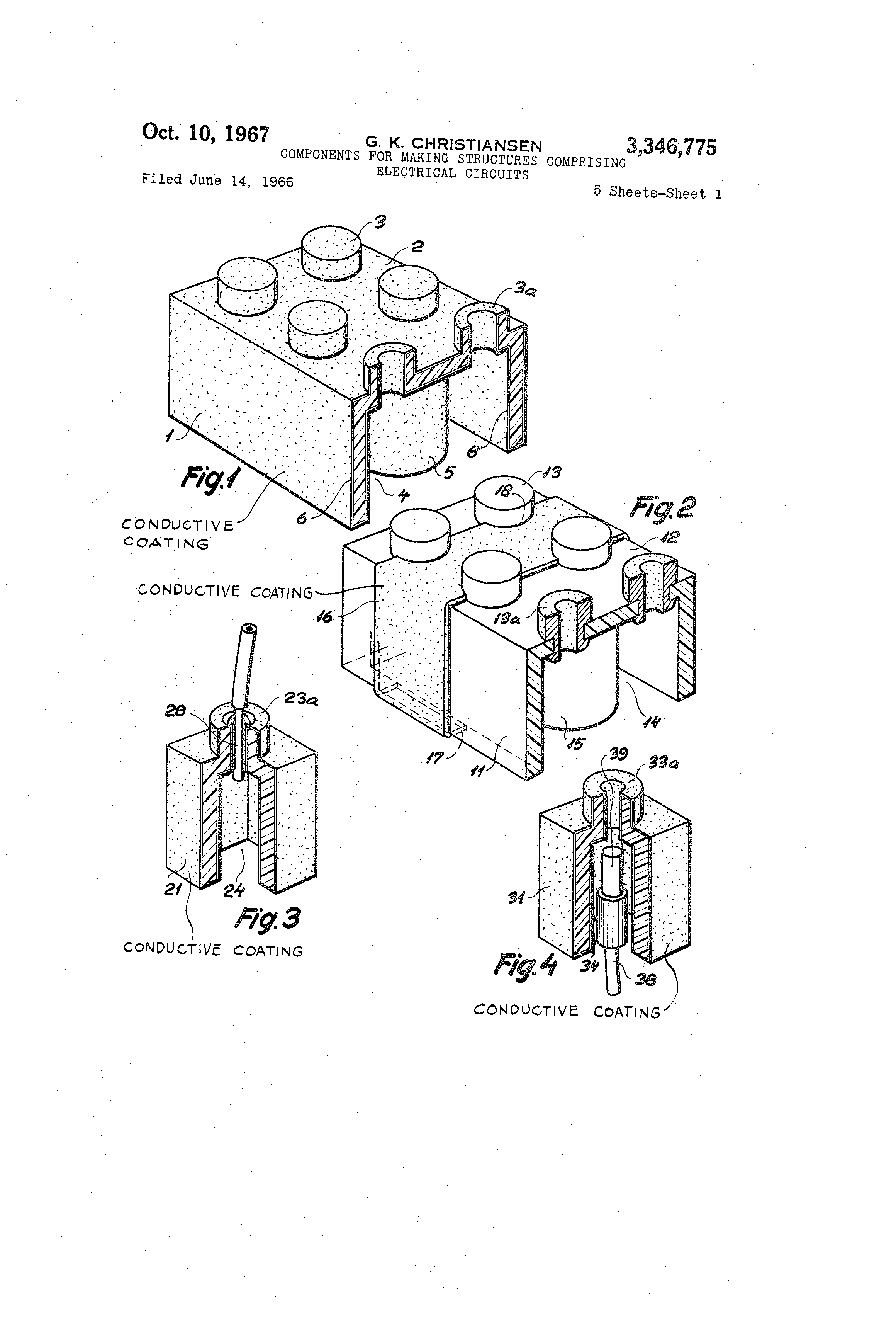 Patent US3346775 - Components for making structures comprising ...