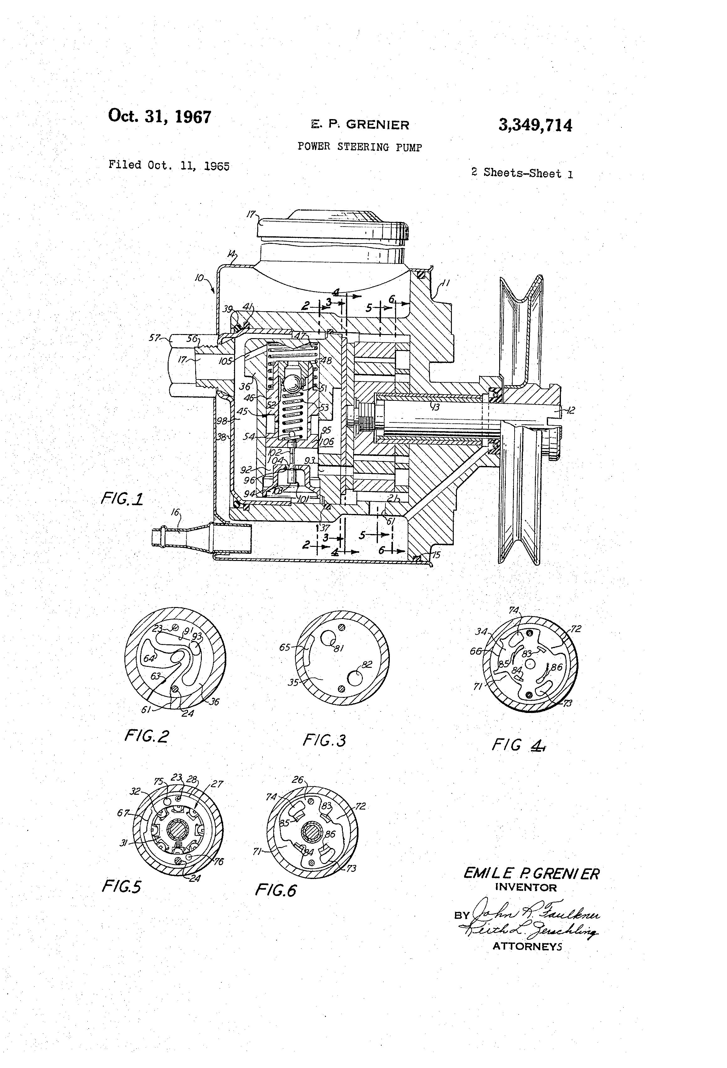patent us3349714 - power steering pump
