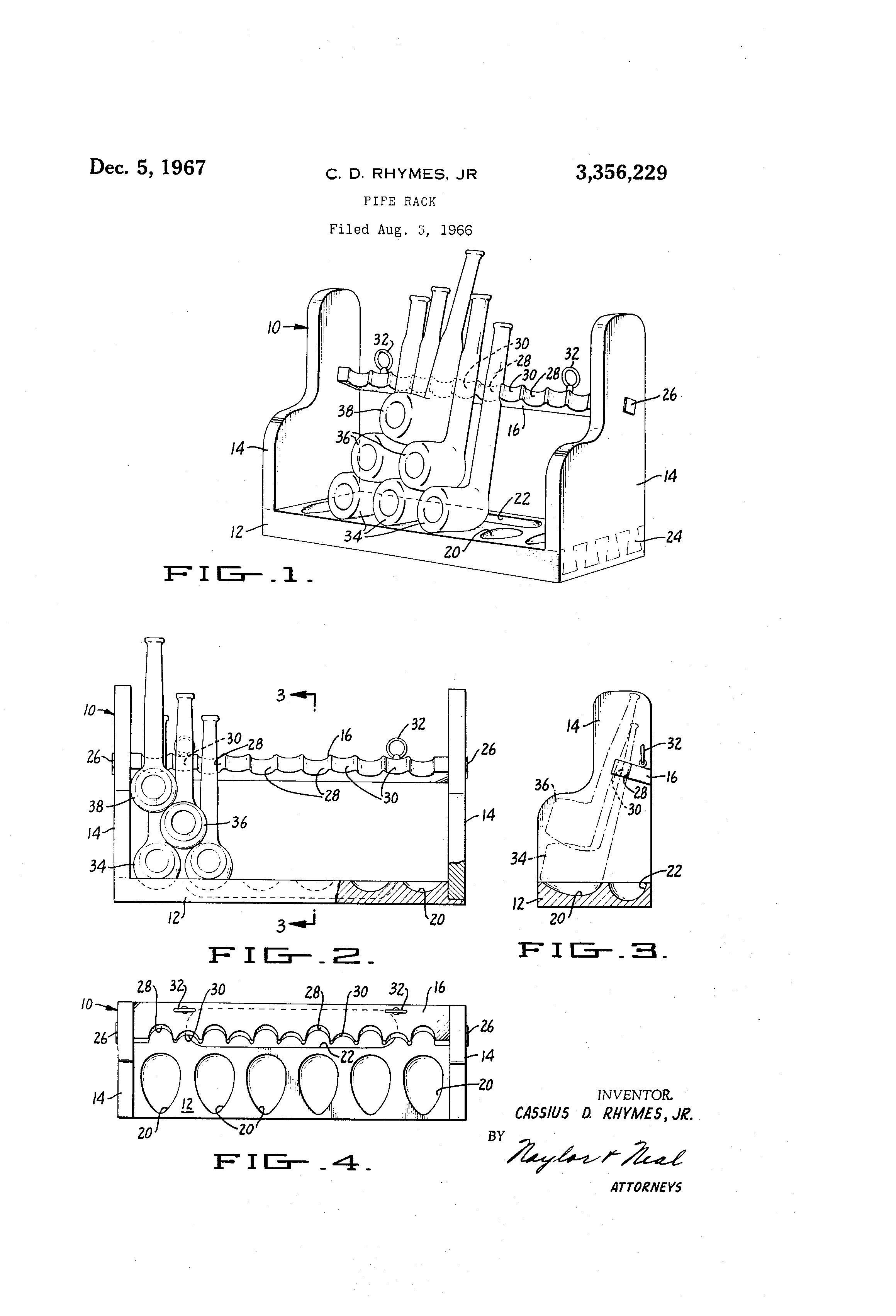 Patent US3356229 - Pipe rack - Google Patents