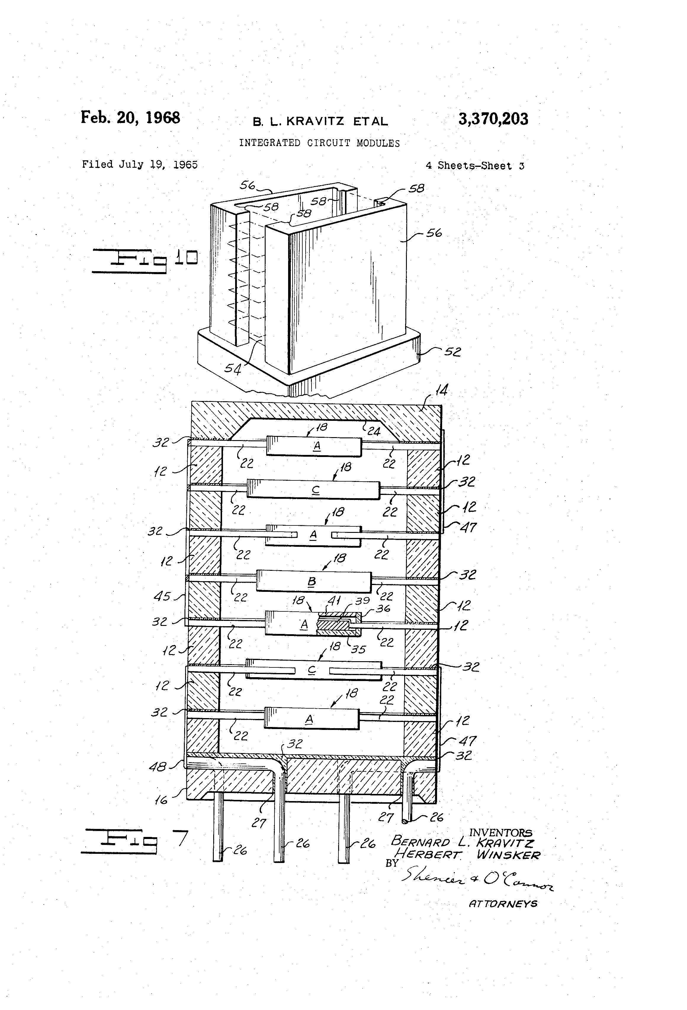 patente us3370203 - integrated circuit modules