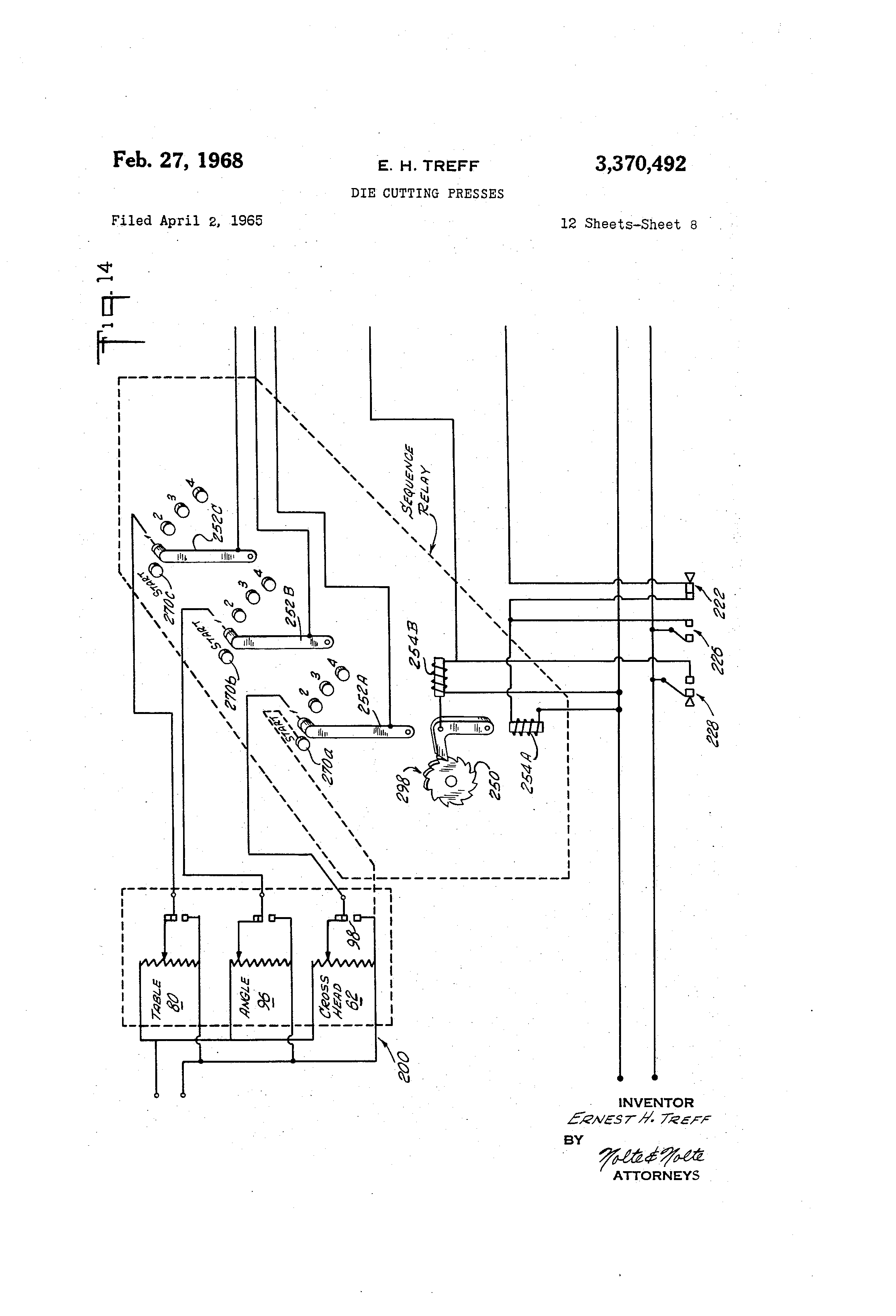 US3370492 7 patent us3370492 die cutting presses google patents stamping press wiring diagrams at soozxer.org