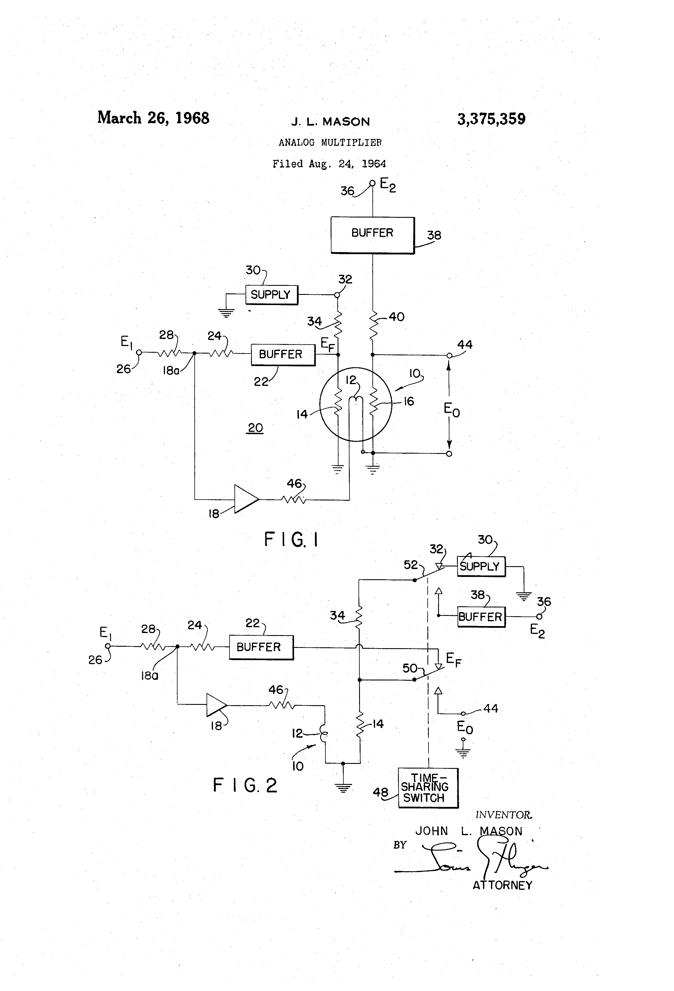Patent US3375359 - Analog multiplier - Google Patents