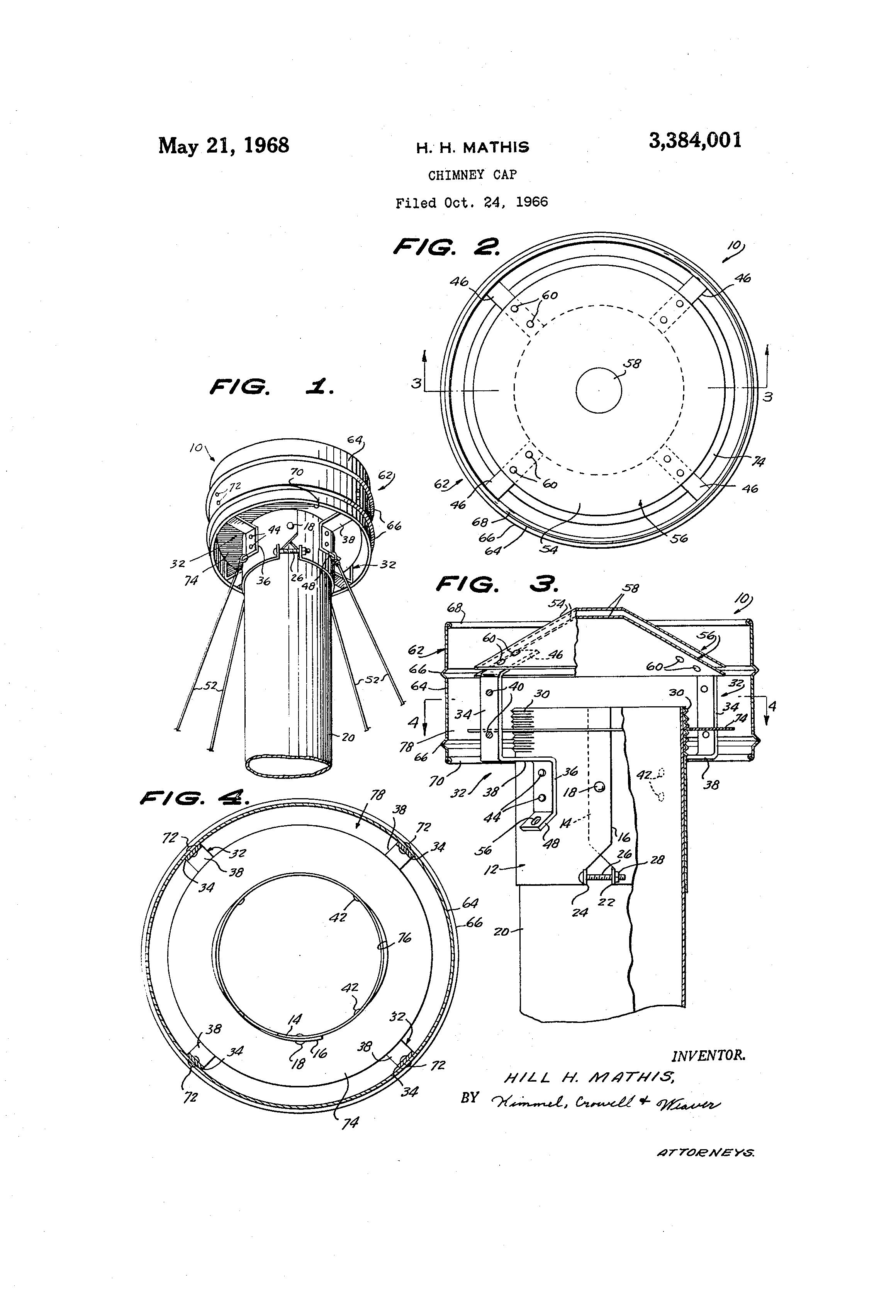 patent us3384001 chimney cap google patents