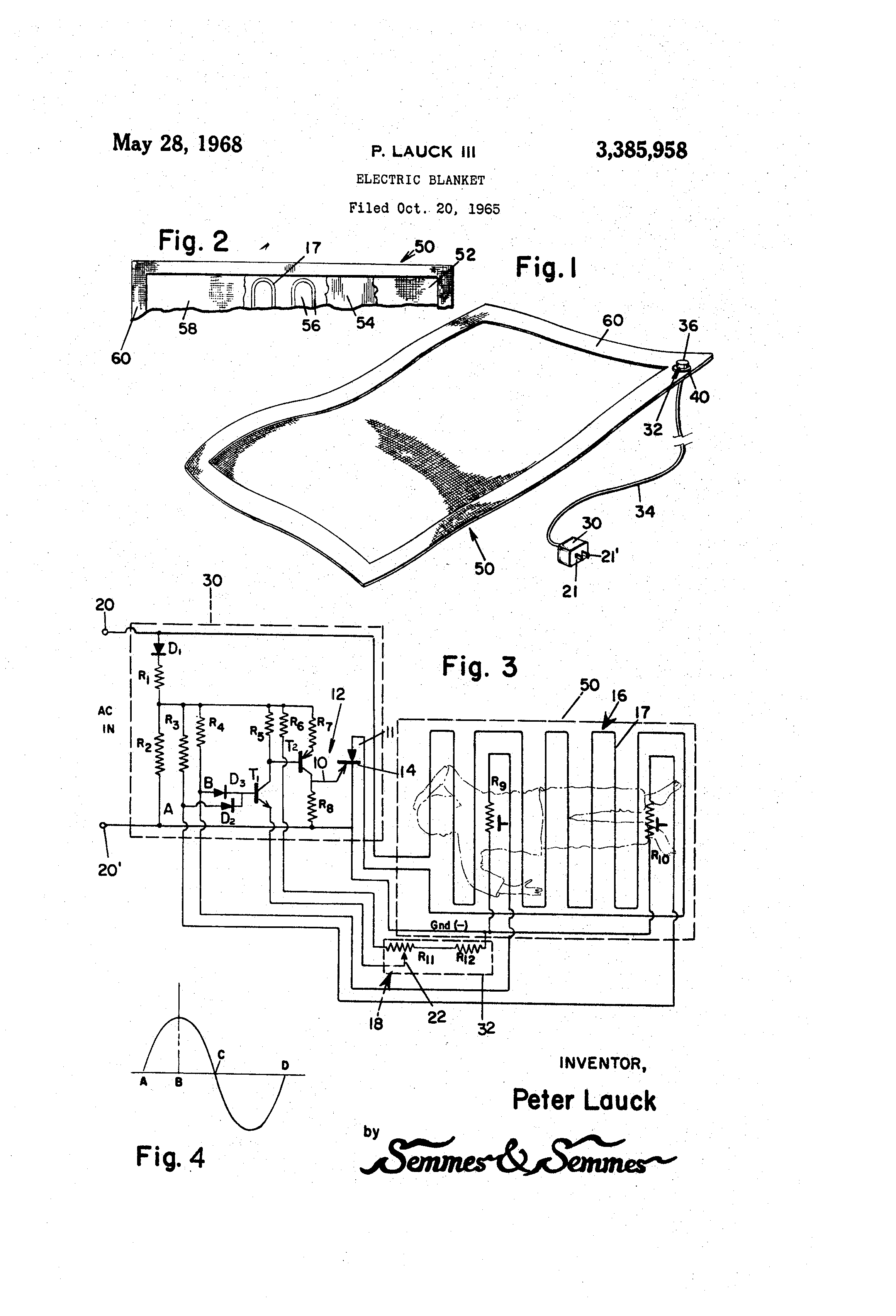 patent us3385958 - electric blanket