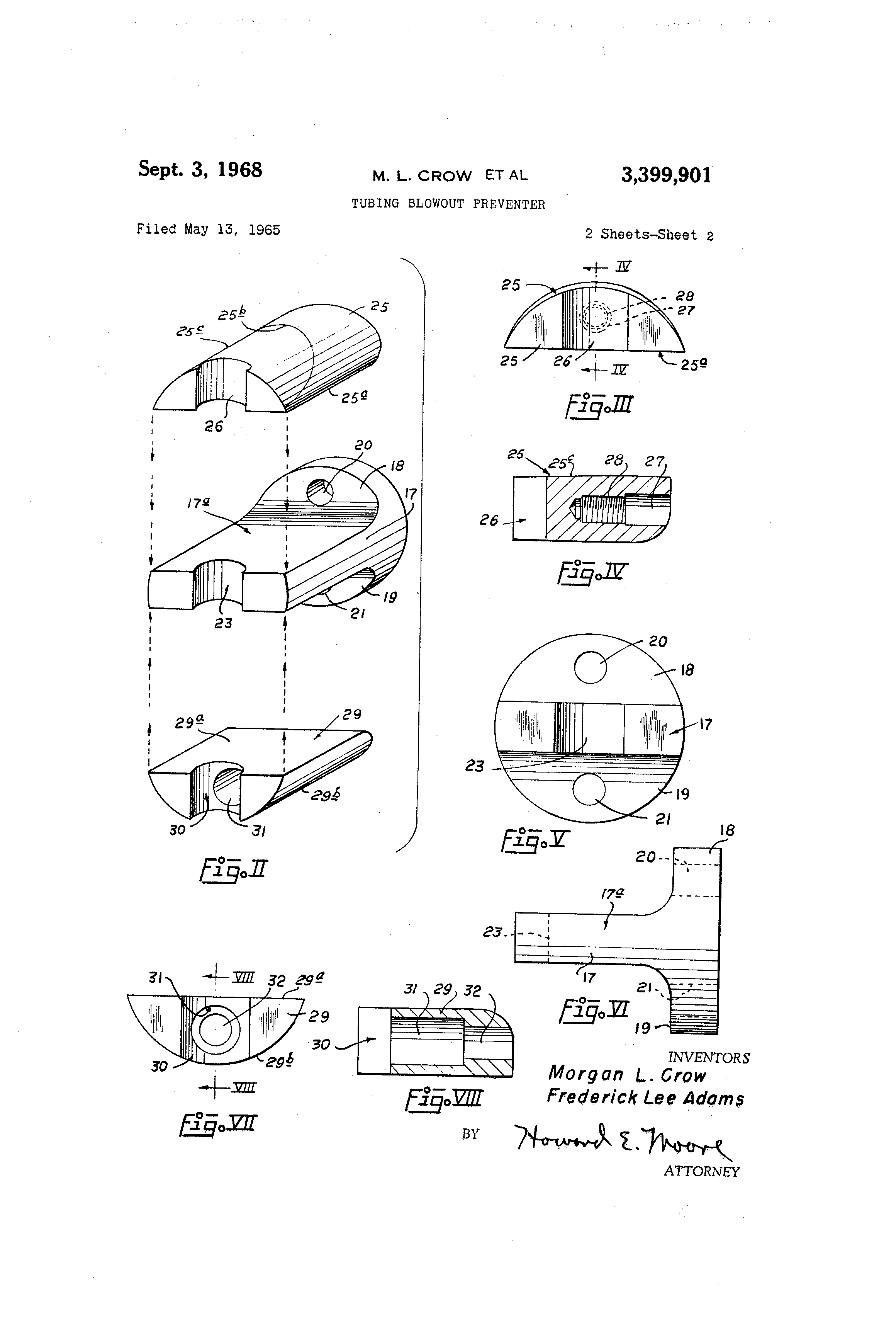 patent us3399901 tubing blowout preventer patents Subsea Wellhead Diagram patent drawing