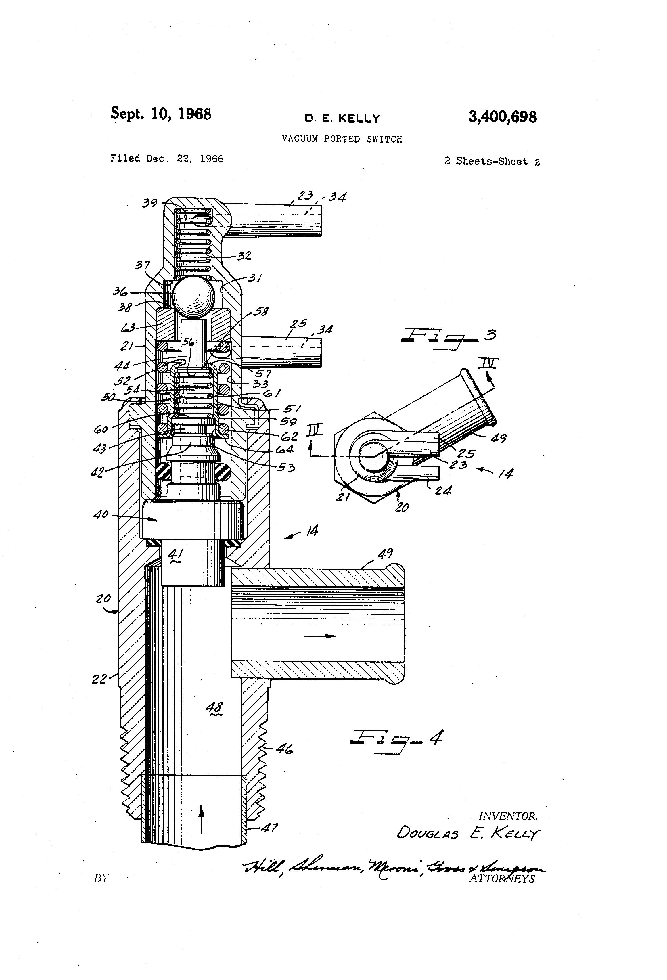 Patent US3400698 - Vacuum ported switch - Google Patents
