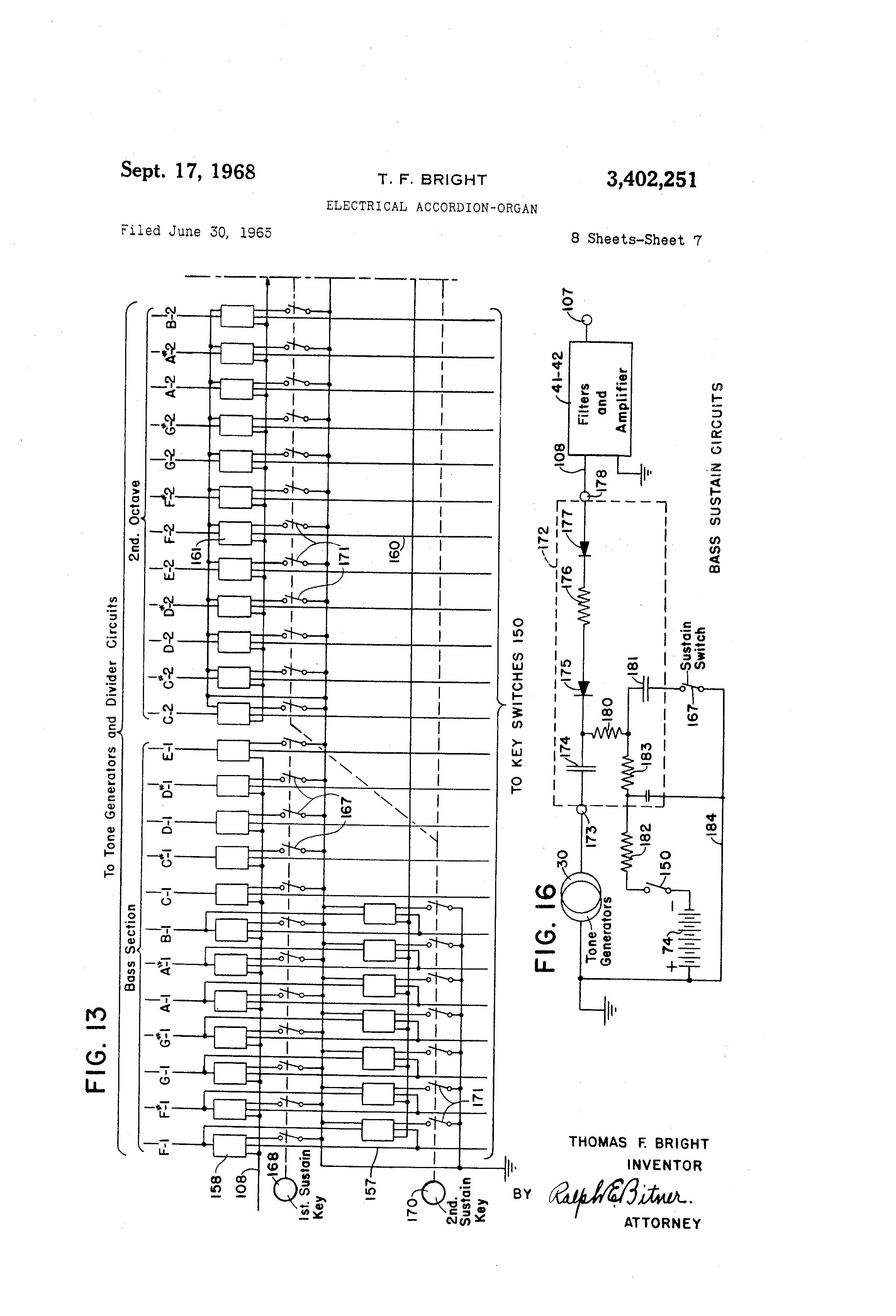 Patent us3402251 electrical accordion organ google patents patent drawing hexwebz Choice Image