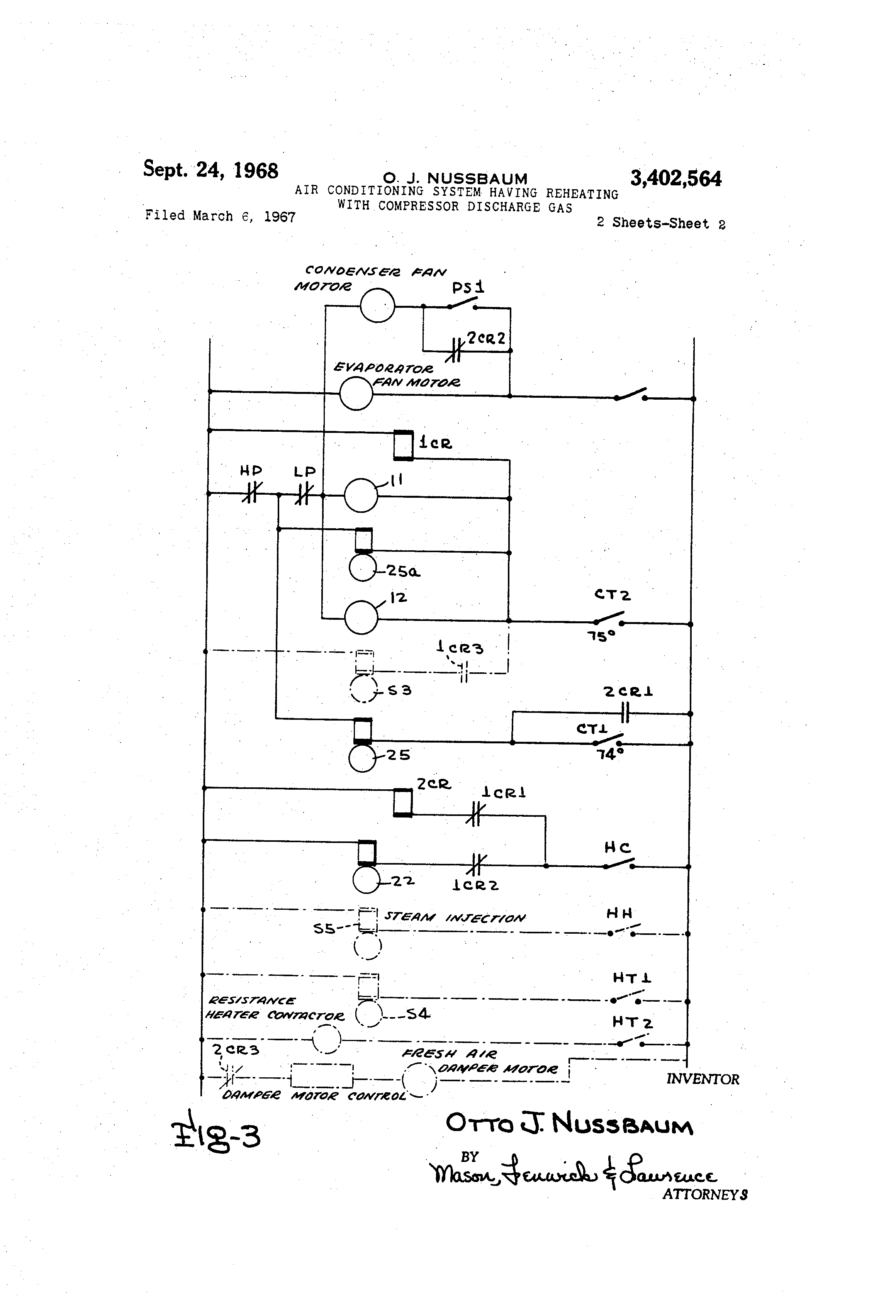 US3402564 1 patent us3402564 air conditioning system having reheating with larkin evaporator wiring diagram at n-0.co