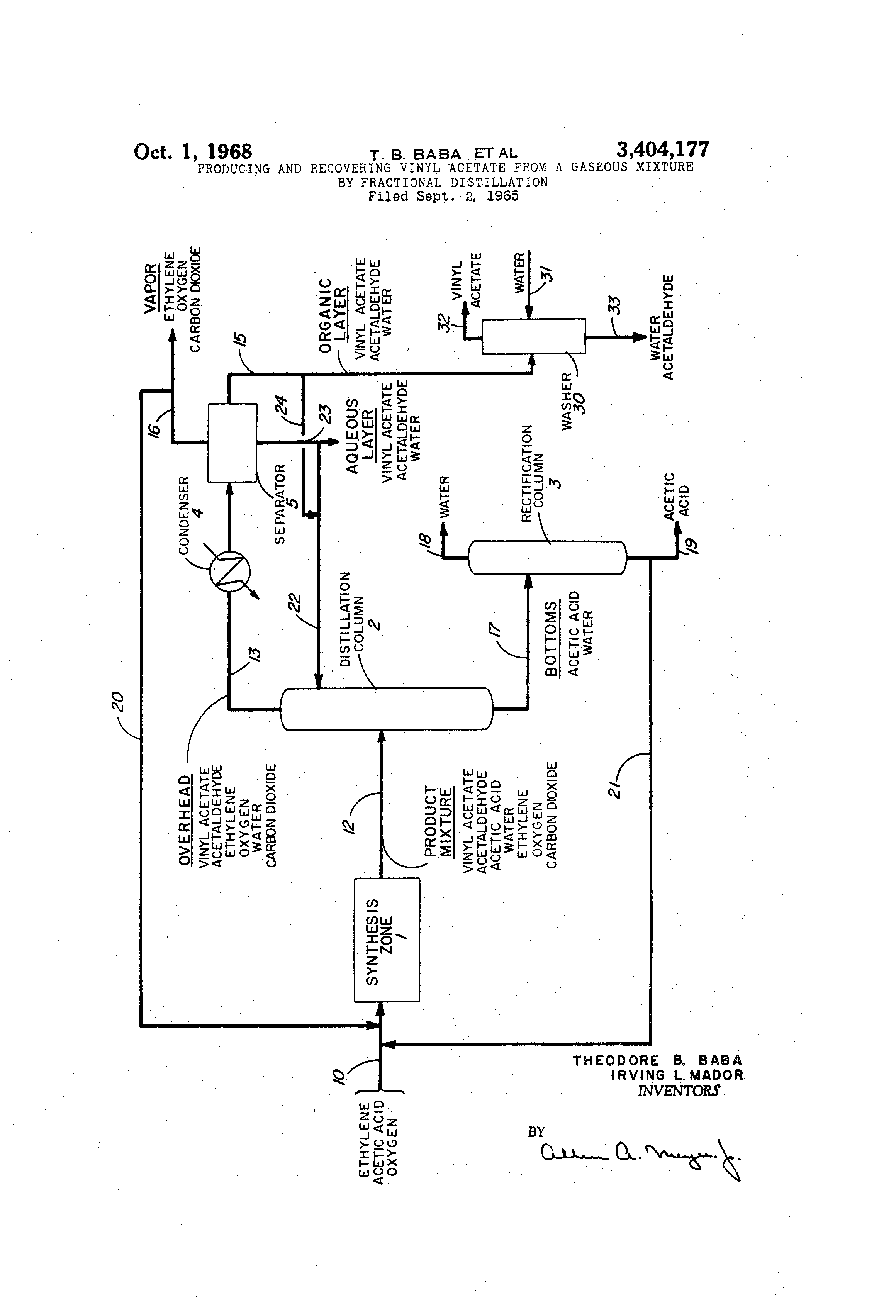 Vinyl Acetate Process Flow Diagram Great Installation Of Wiring Images Engineering Patent Us3404177 Producing And Recovering From A Rh Google Ac Business
