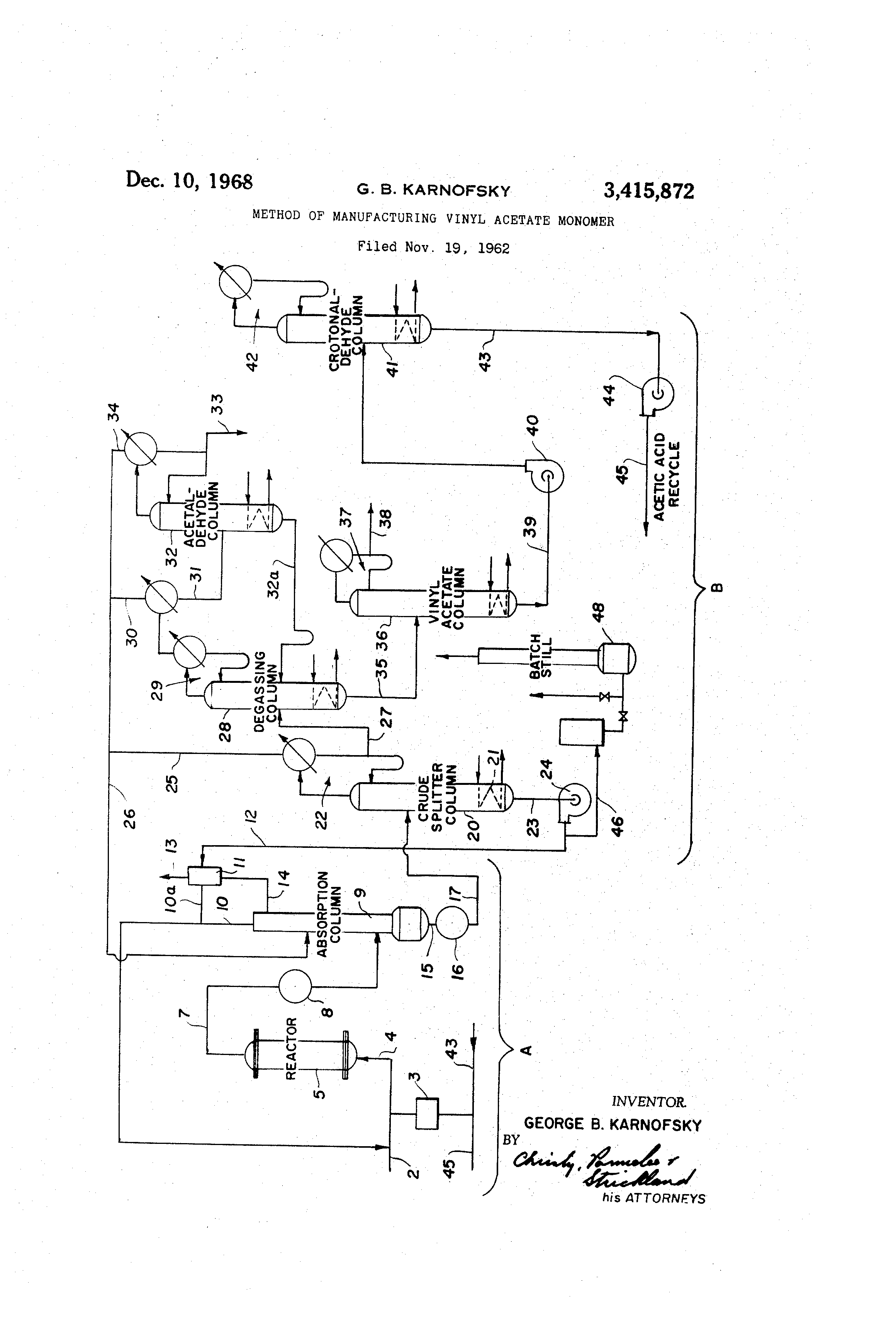 Patent Us3415872 Method Of Manufacturing Vinyl Acetate