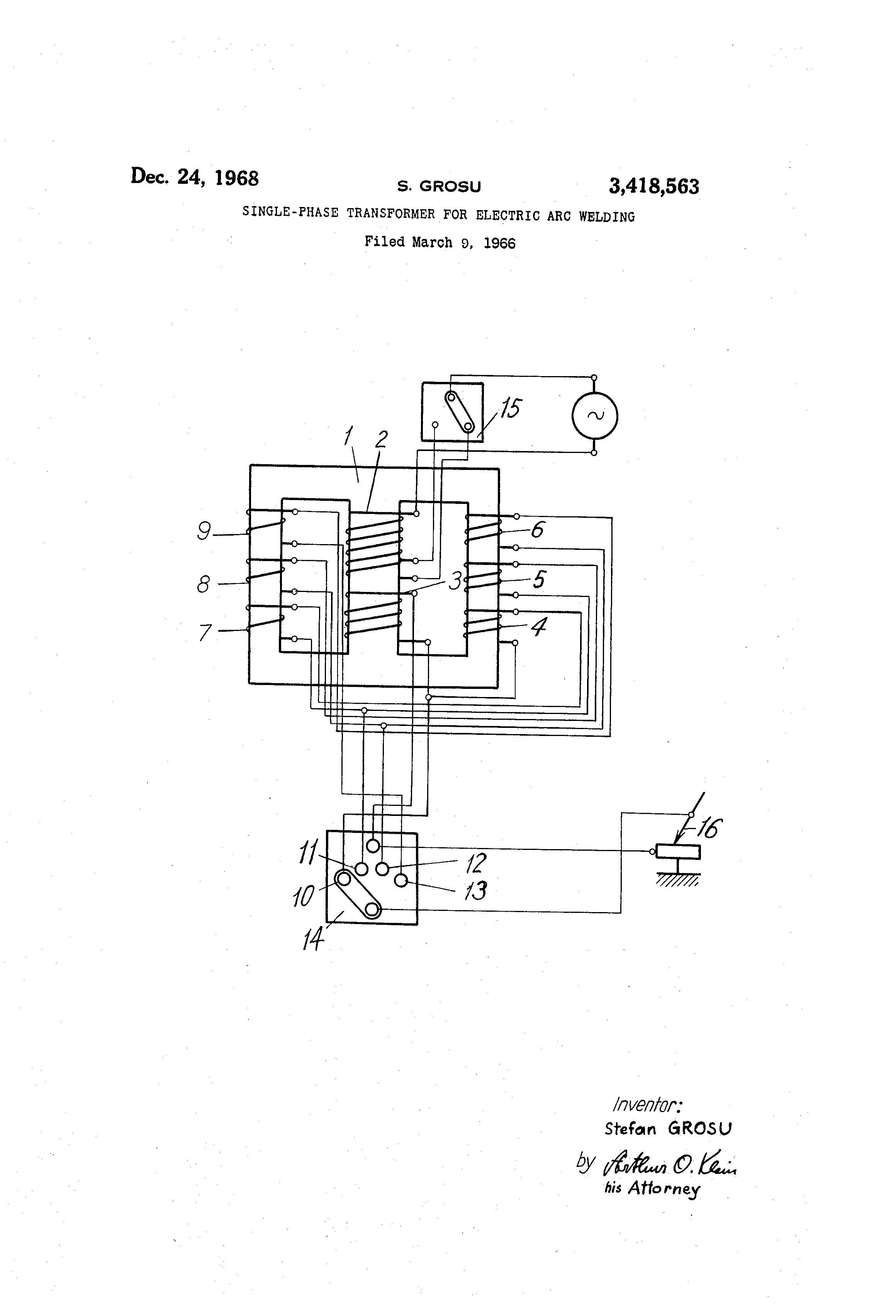 arc welding machine diagram