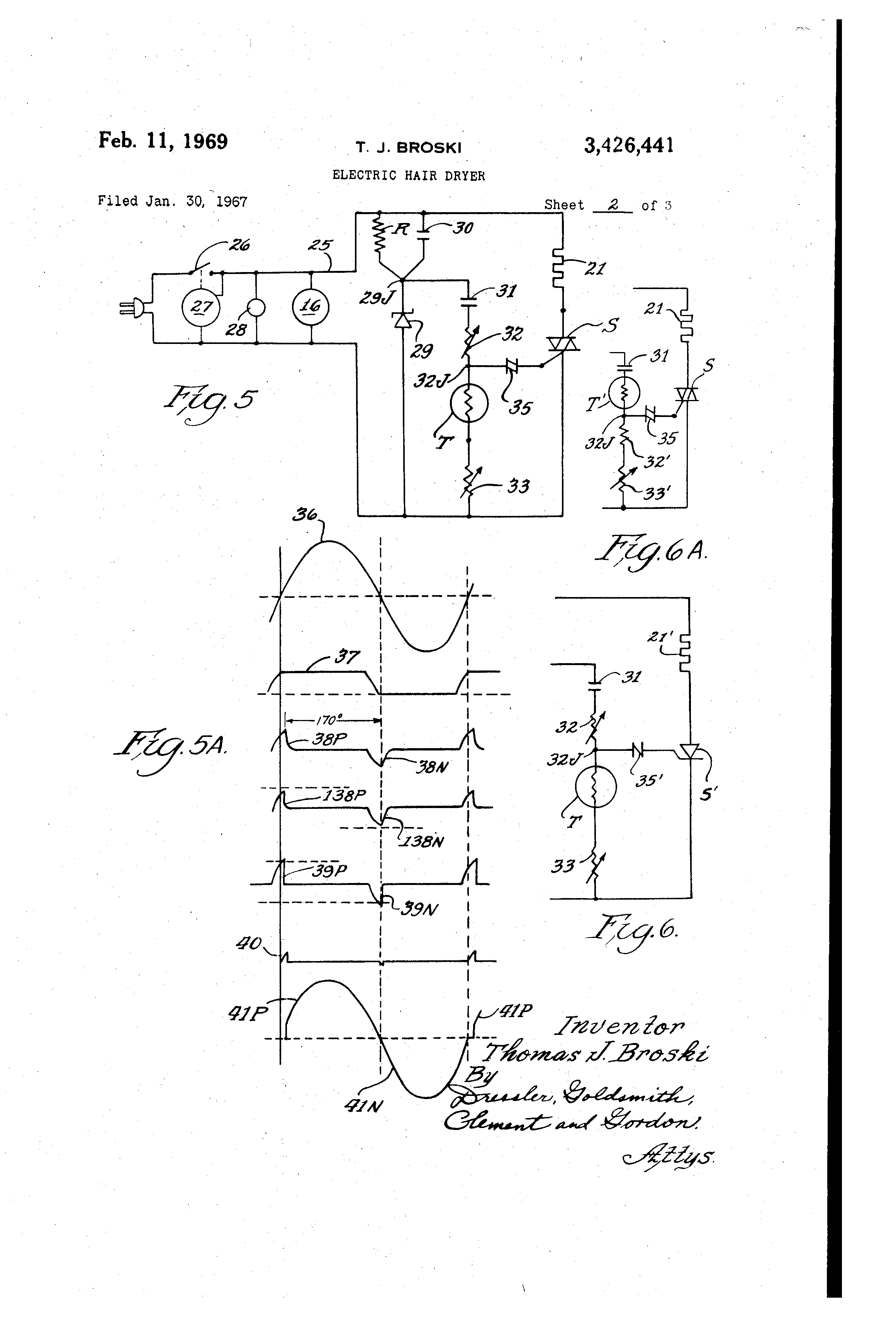 US3426441 1 patent us3426441 electric hair dryer google patents hair dryer wiring diagram at gsmportal.co