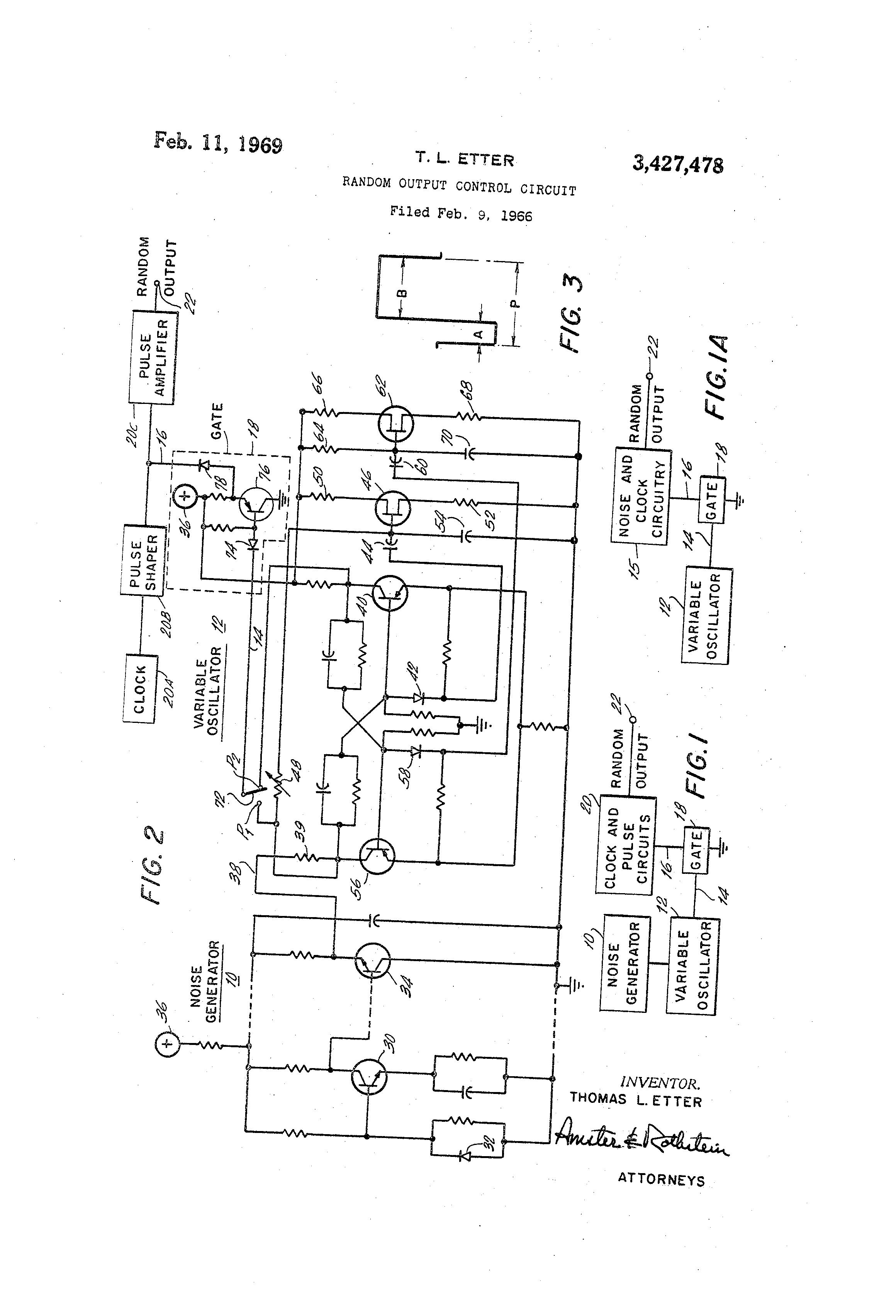 patent us3427478 - random output control circuit