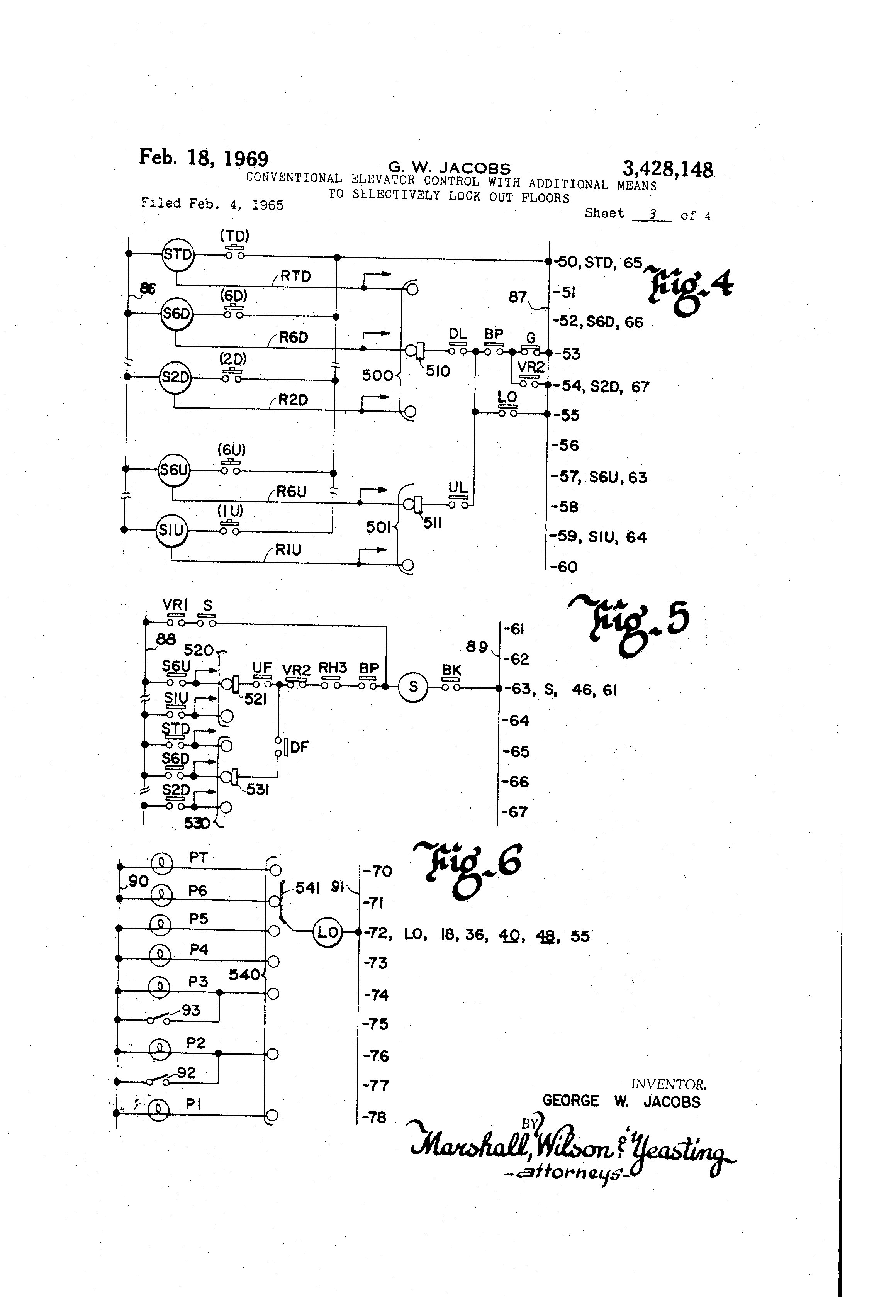 US3428148 2 patent us3428148 conventional elevator control with additional 86 lockout relay wiring diagram at webbmarketing.co