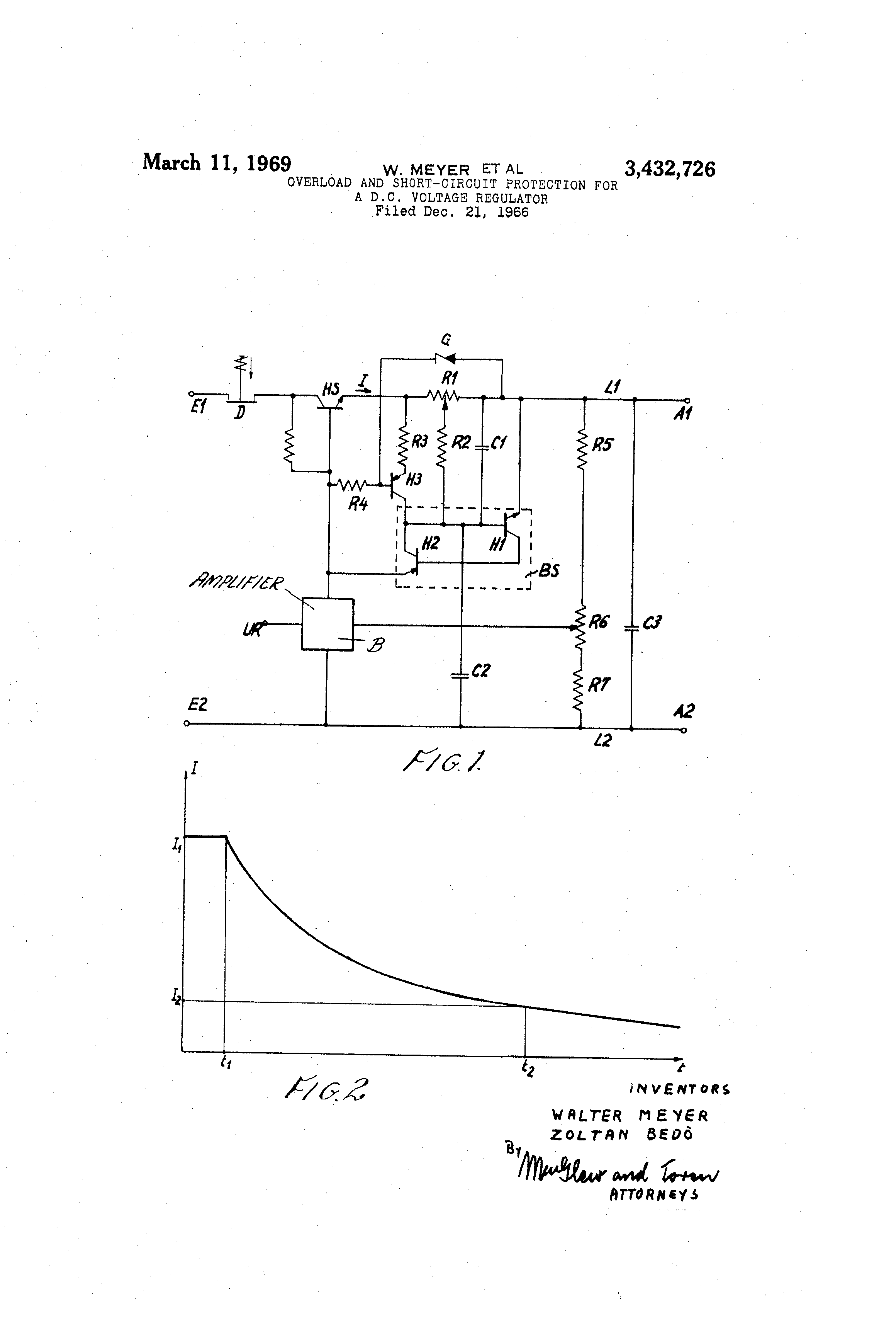 Patente Us3432726 Overload And Short Circuit Protection For A Dc Versatile Tractor Wiring Diagram Patent Drawing