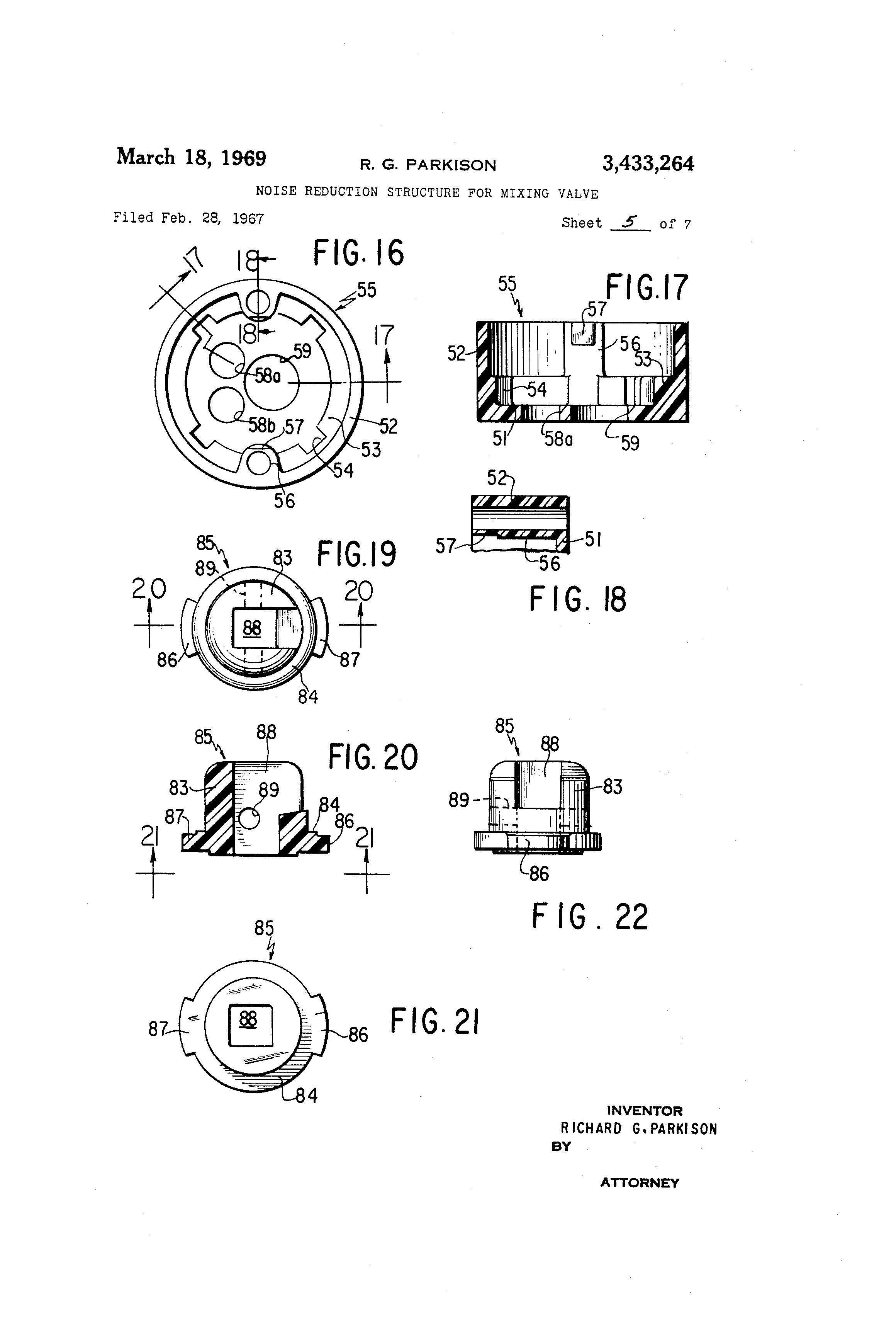 patent  noise reduction structure  mixing valve google patents