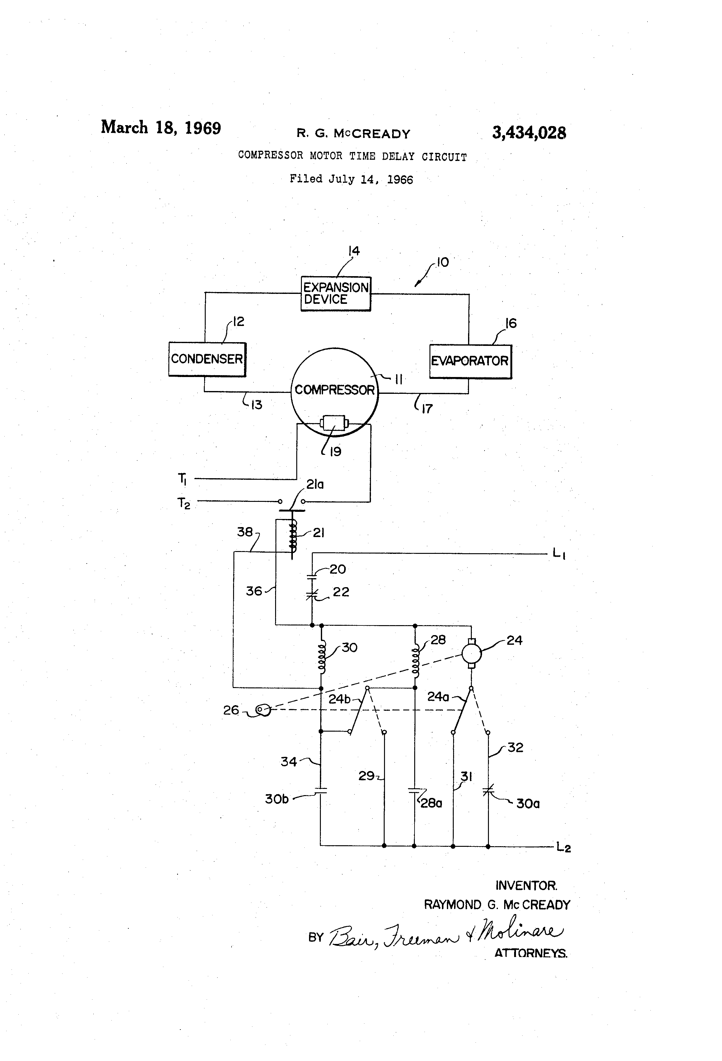 Patent US Compressor Motor Time Delay Circuit Google - Normally open timed closed relay