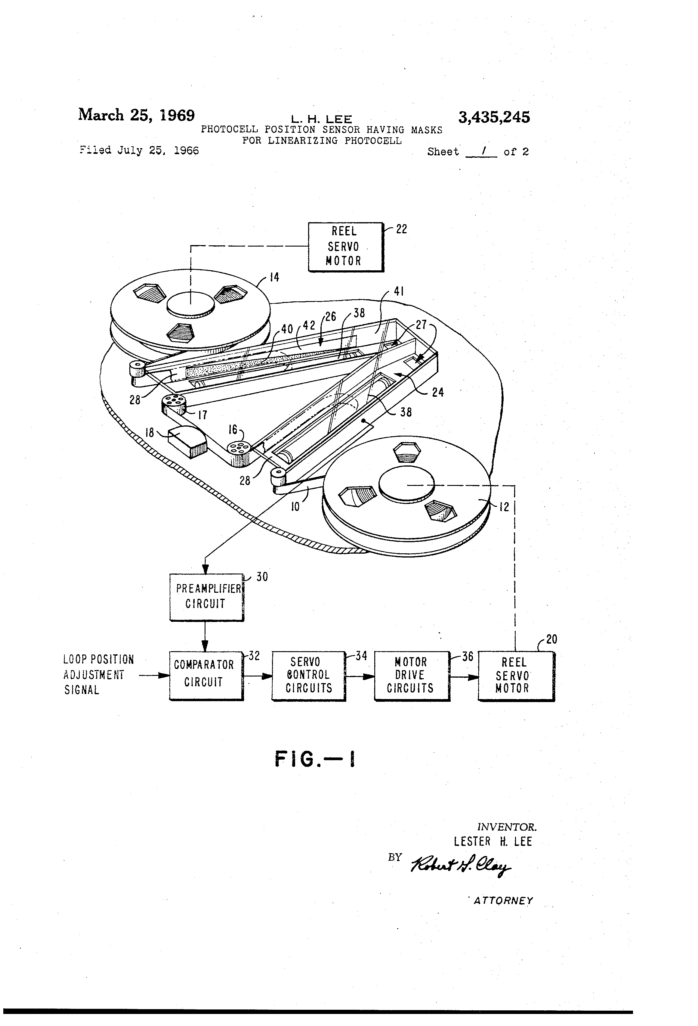 Patent Us3435245 Photocell Position Sensor Having Masks For Photocells Amplifiers Circuit Schematic Diagram Drawing