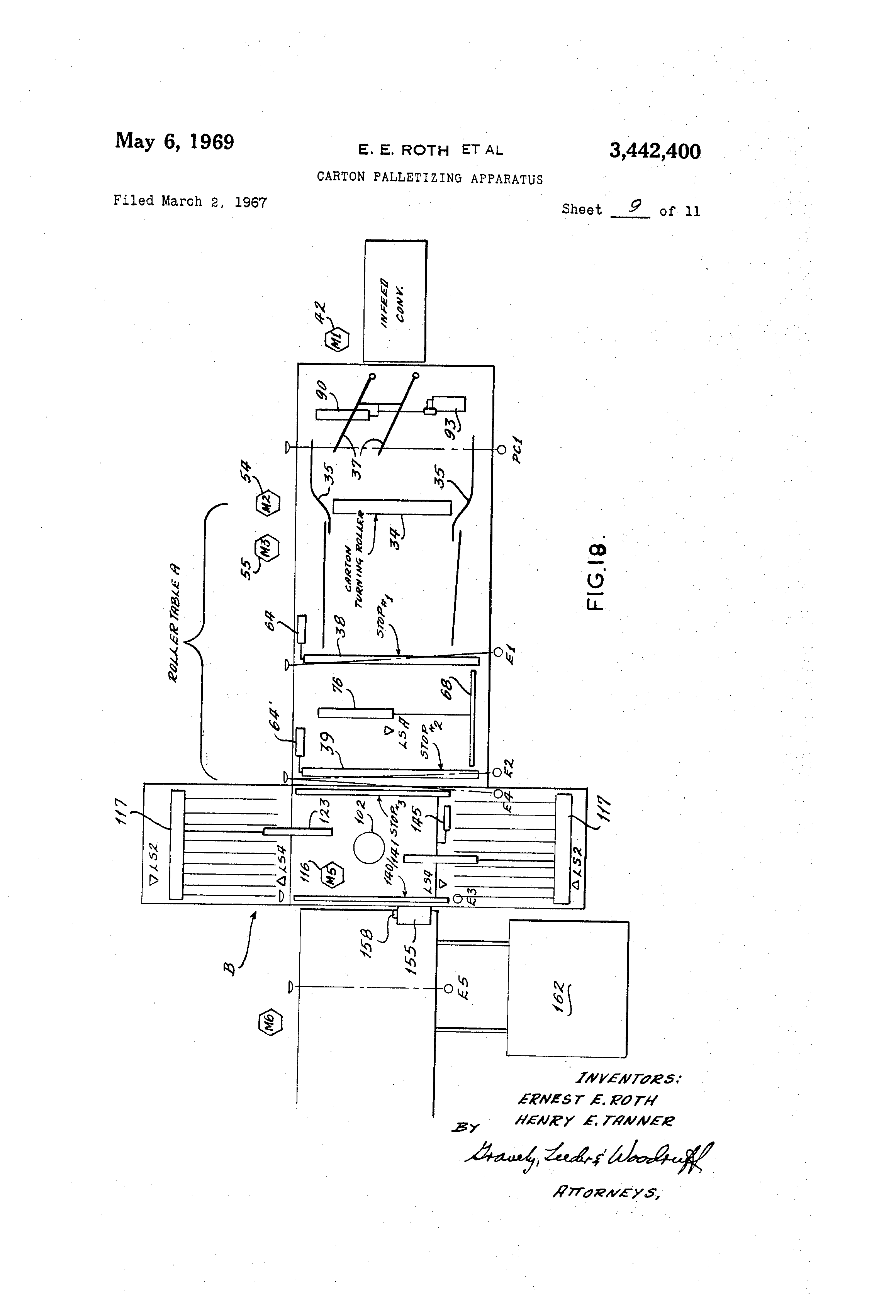 US3442400 8 patent us3442400 carton palletizing apparatus google patents raynor power hoist standard wiring diagram at n-0.co