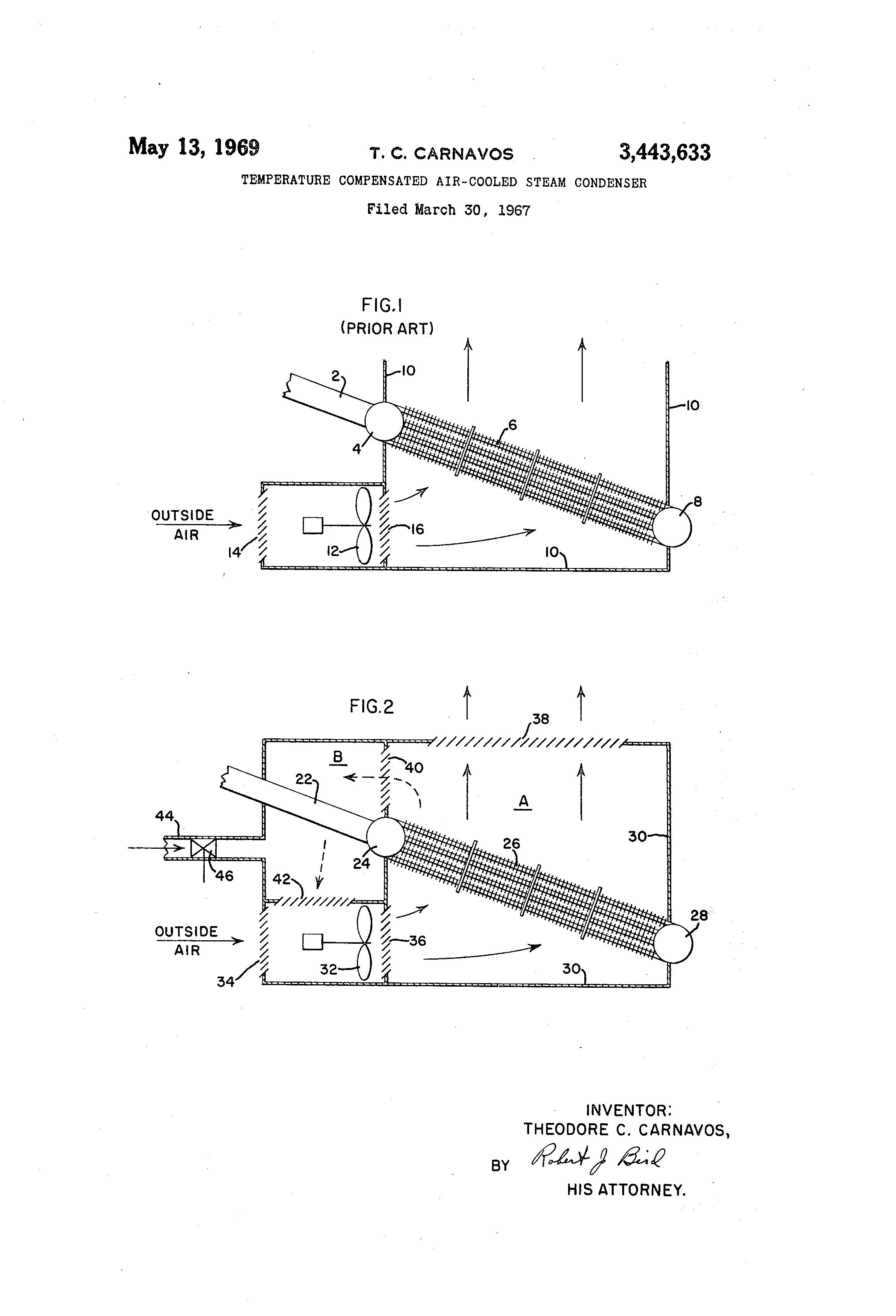 Patent US Temperature pensated air cooled steam