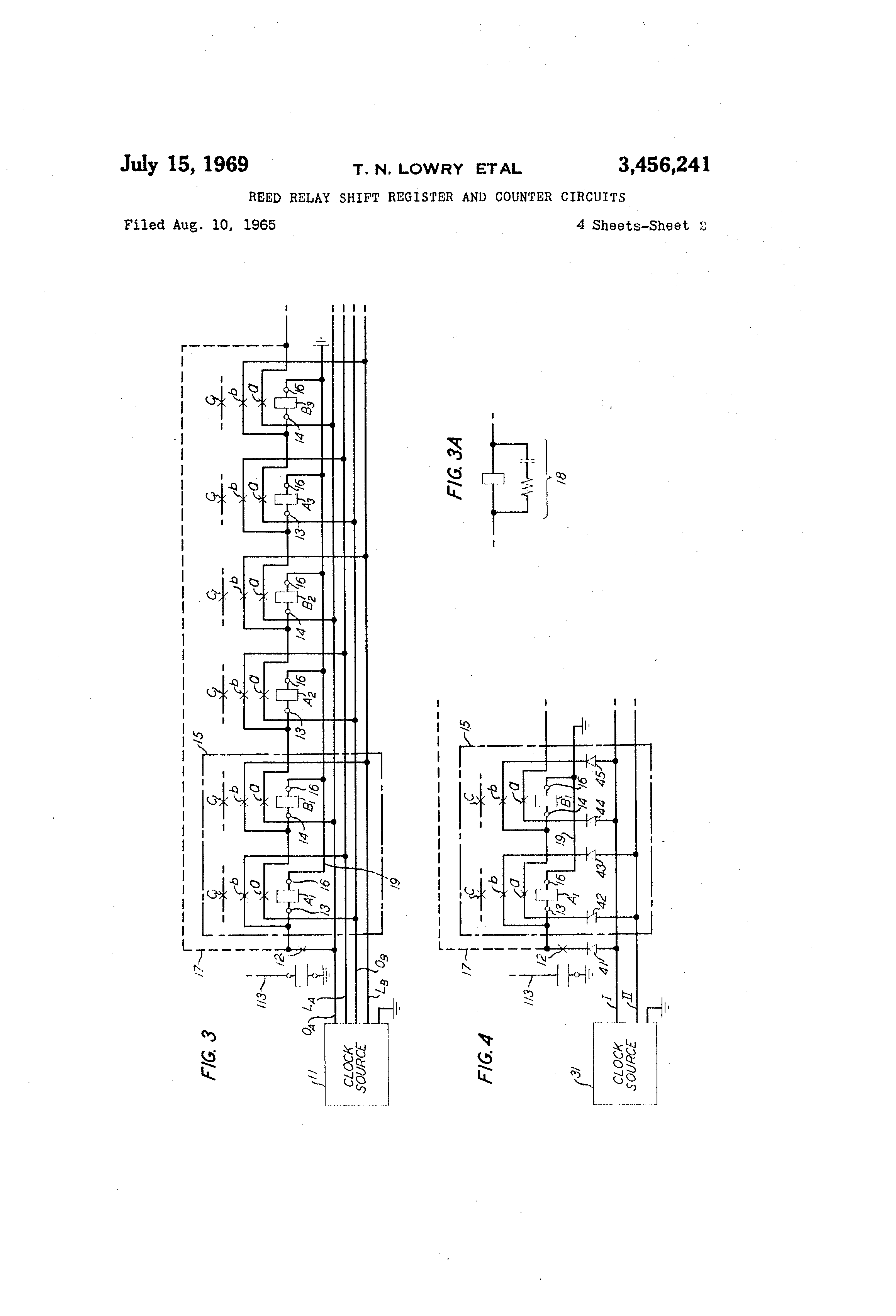 Patent us3456241 reed relay shift register and counter circuits patent drawing asfbconference2016 Image collections
